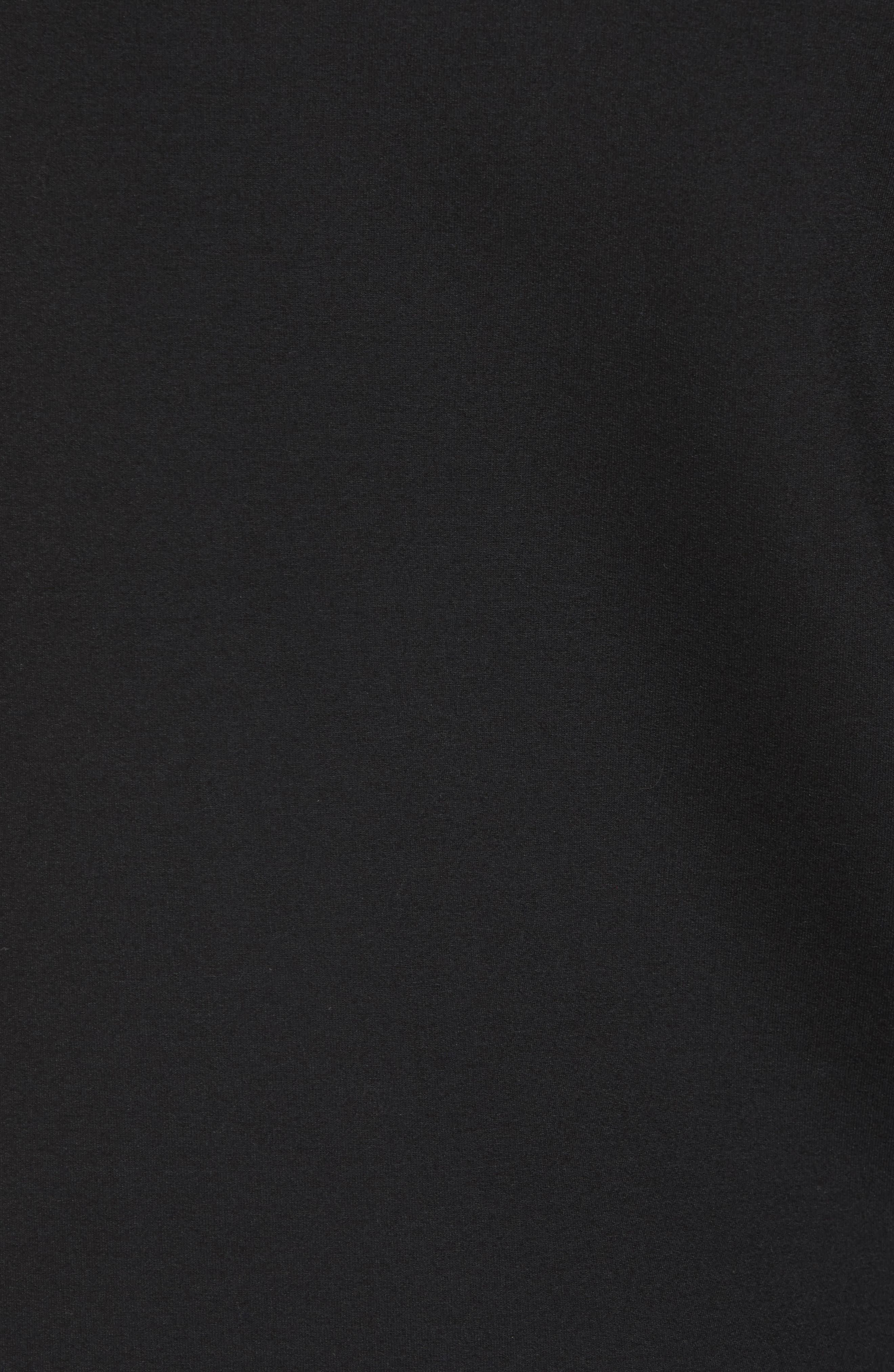 Hooded Fleece Jacket,                             Alternate thumbnail 5, color,                             Black