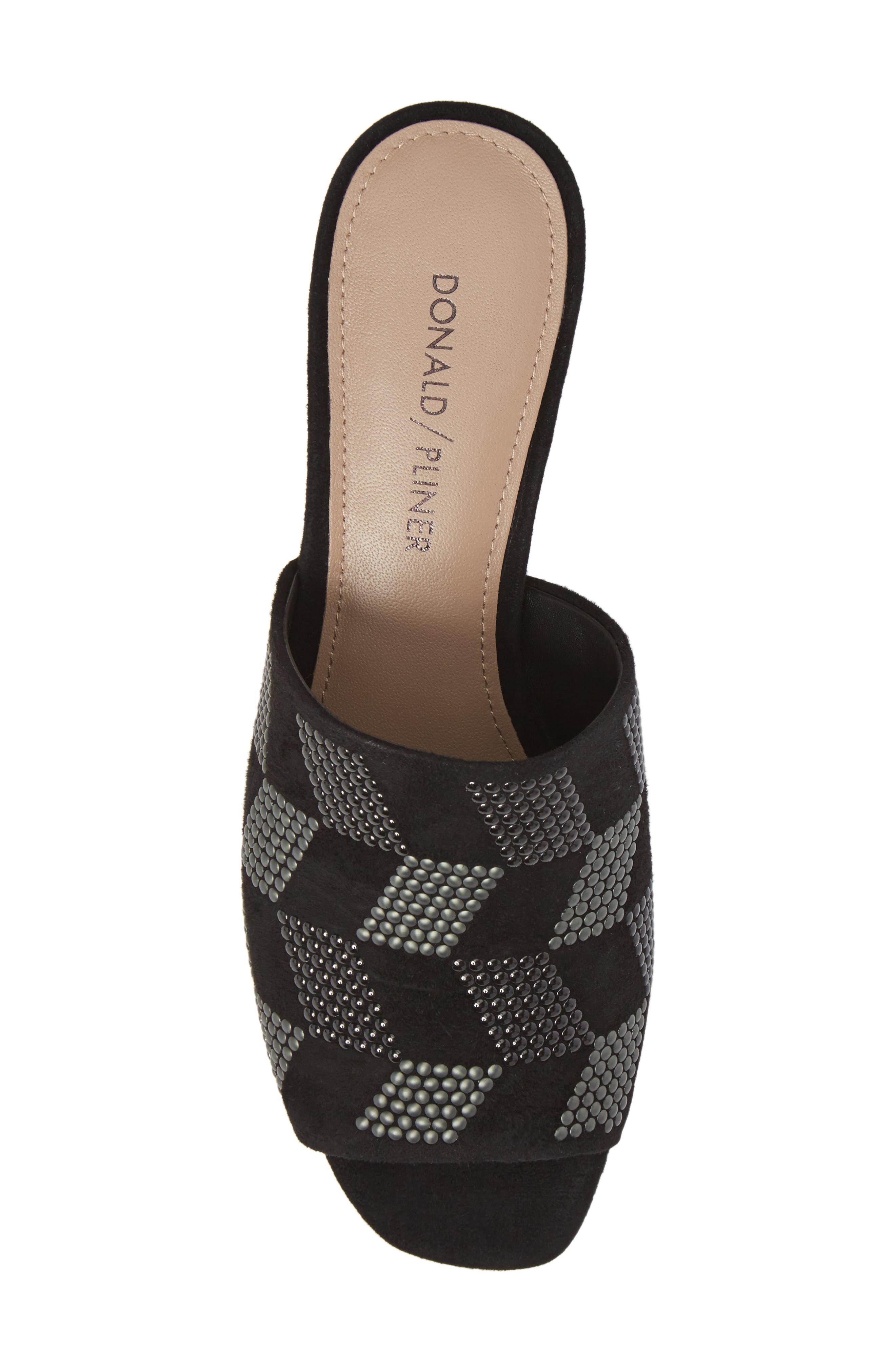 Rimini Slide Sandal,                             Alternate thumbnail 5, color,                             Black Suede