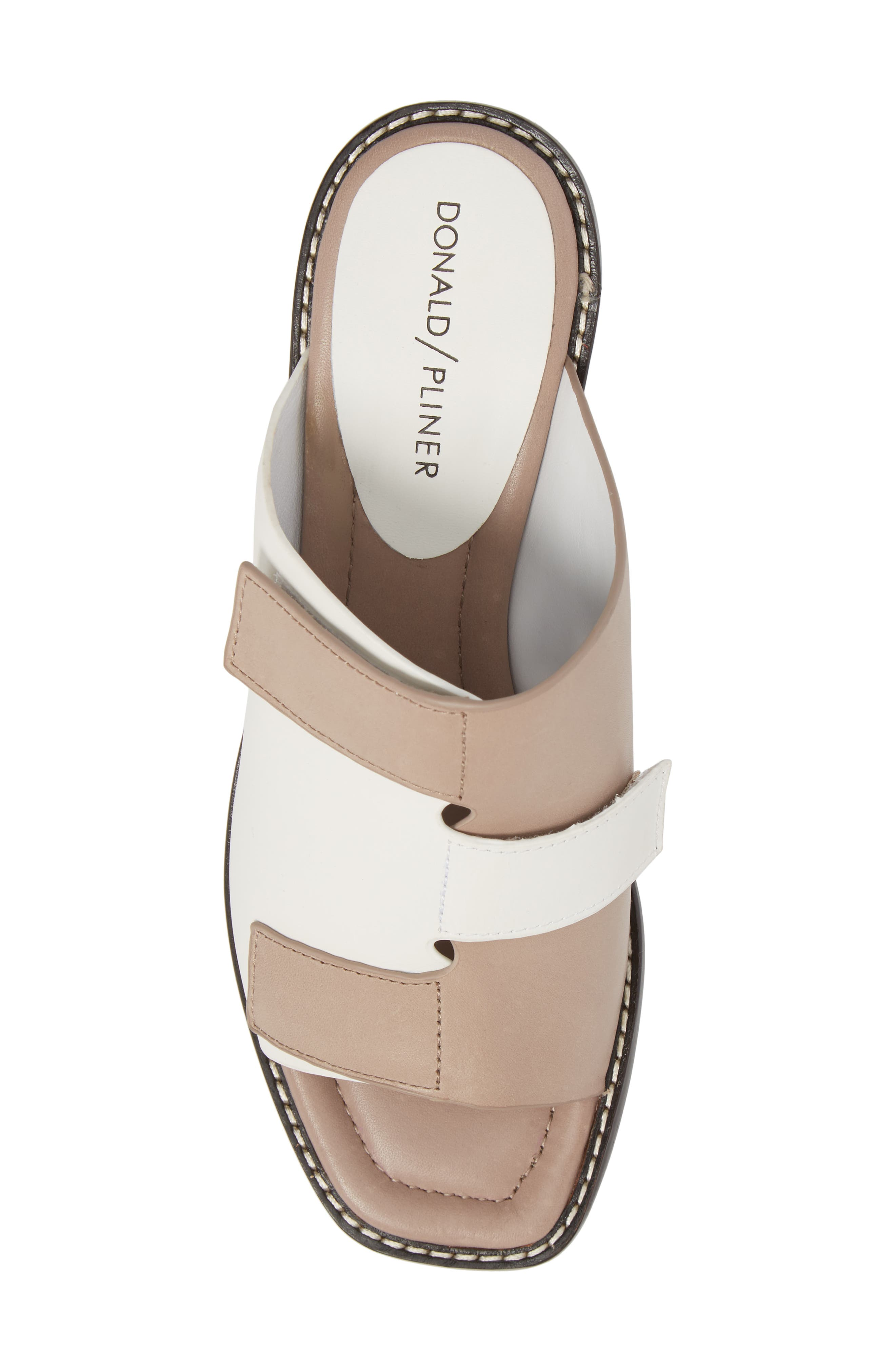 Amalia Block Heel Sandal,                             Alternate thumbnail 5, color,                             Bone Leather