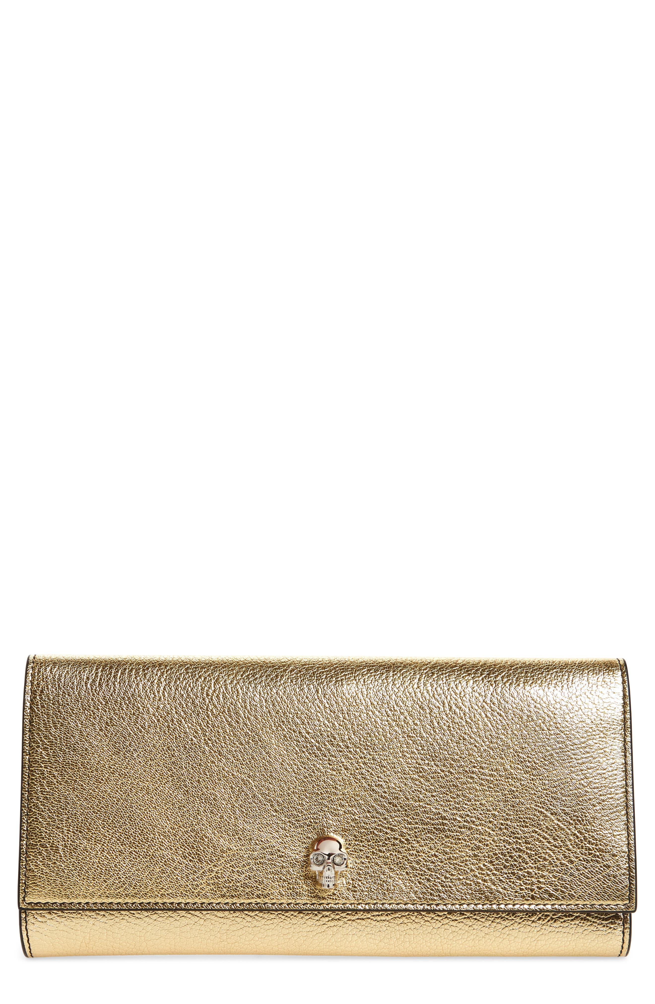 Leather Travel Wallet,                             Main thumbnail 1, color,                             Sahara Gold