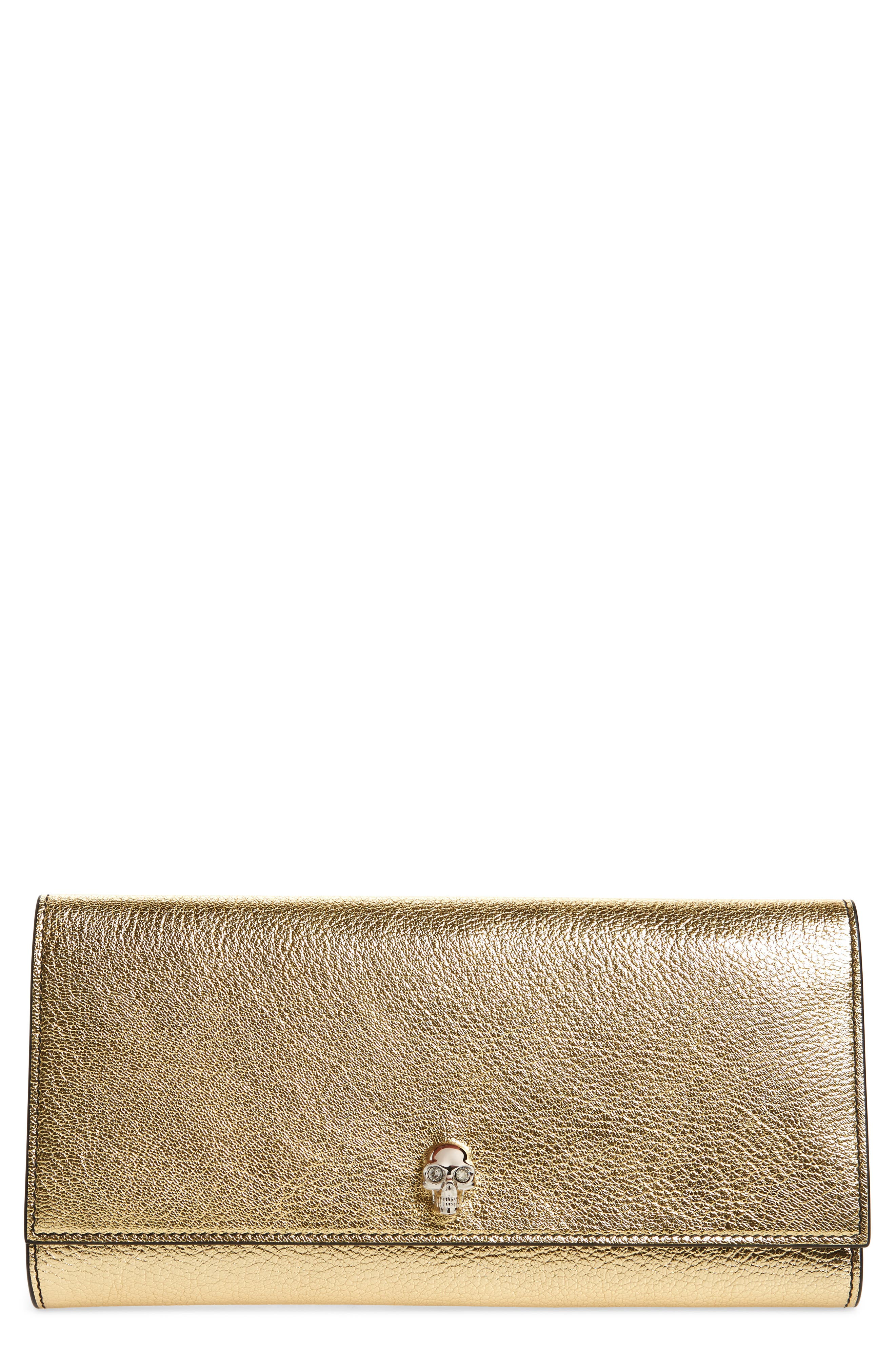 Leather Travel Wallet,                         Main,                         color, Sahara Gold