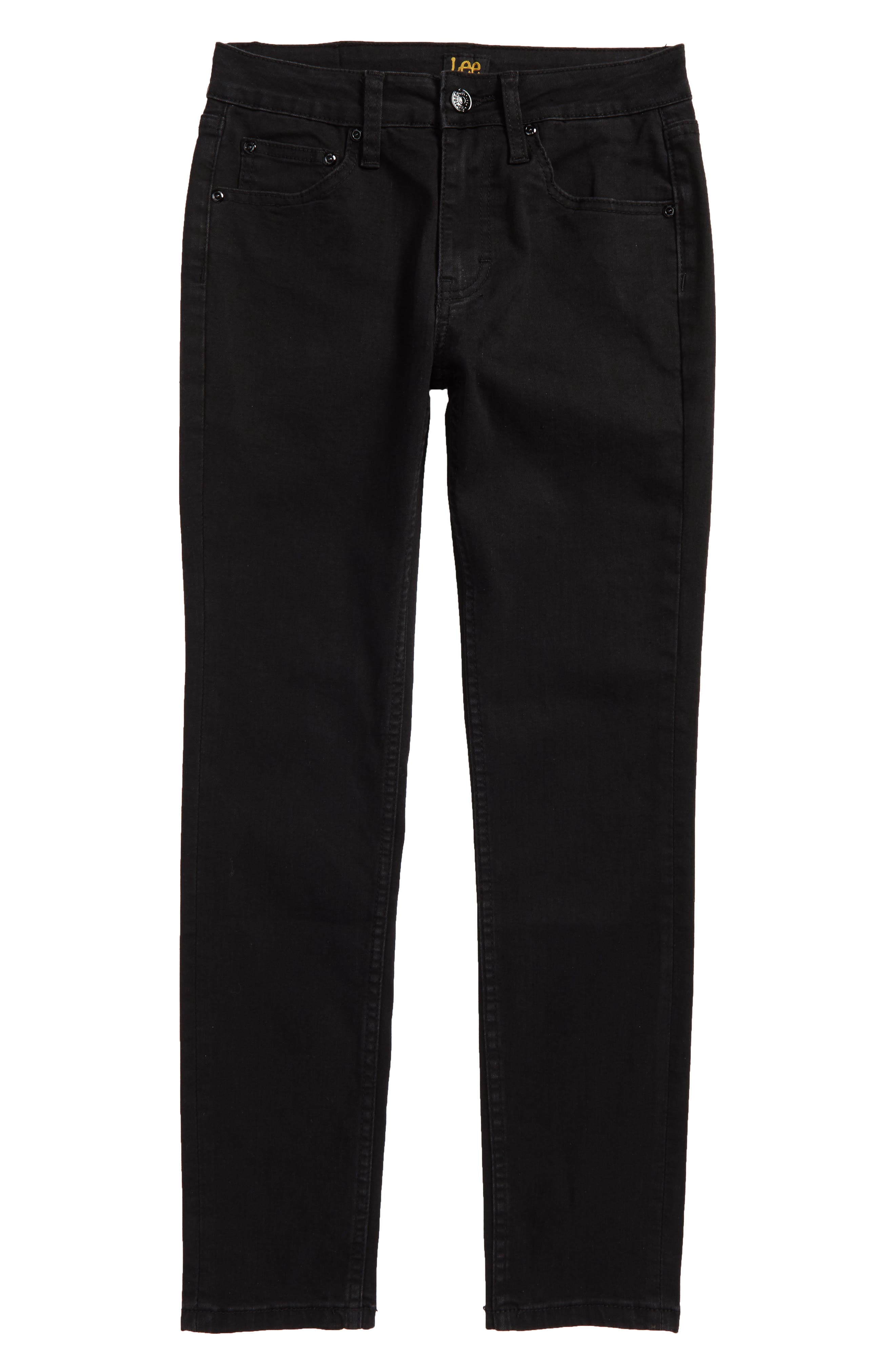Stretch Skinny Jeans,                             Main thumbnail 1, color,                             Jet