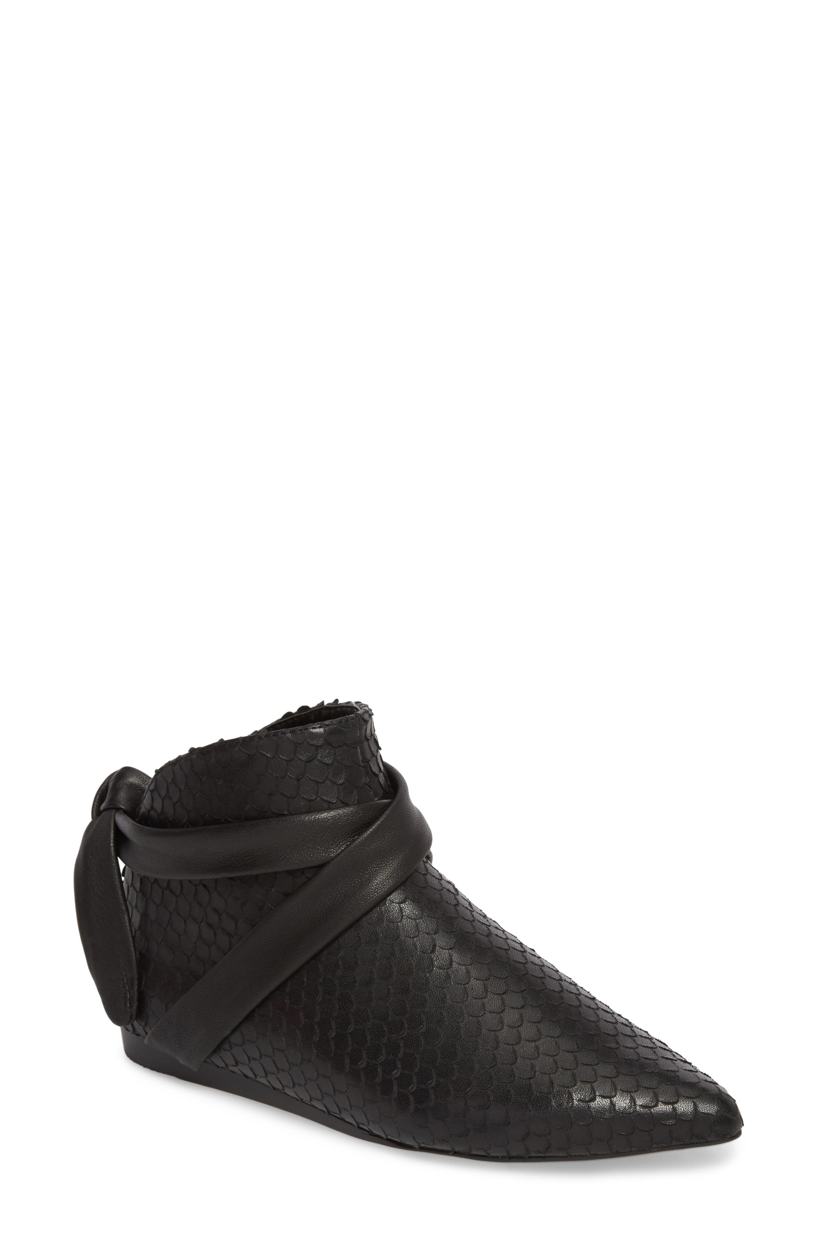 M4D3 Derby Bootie,                         Main,                         color, Black Leather