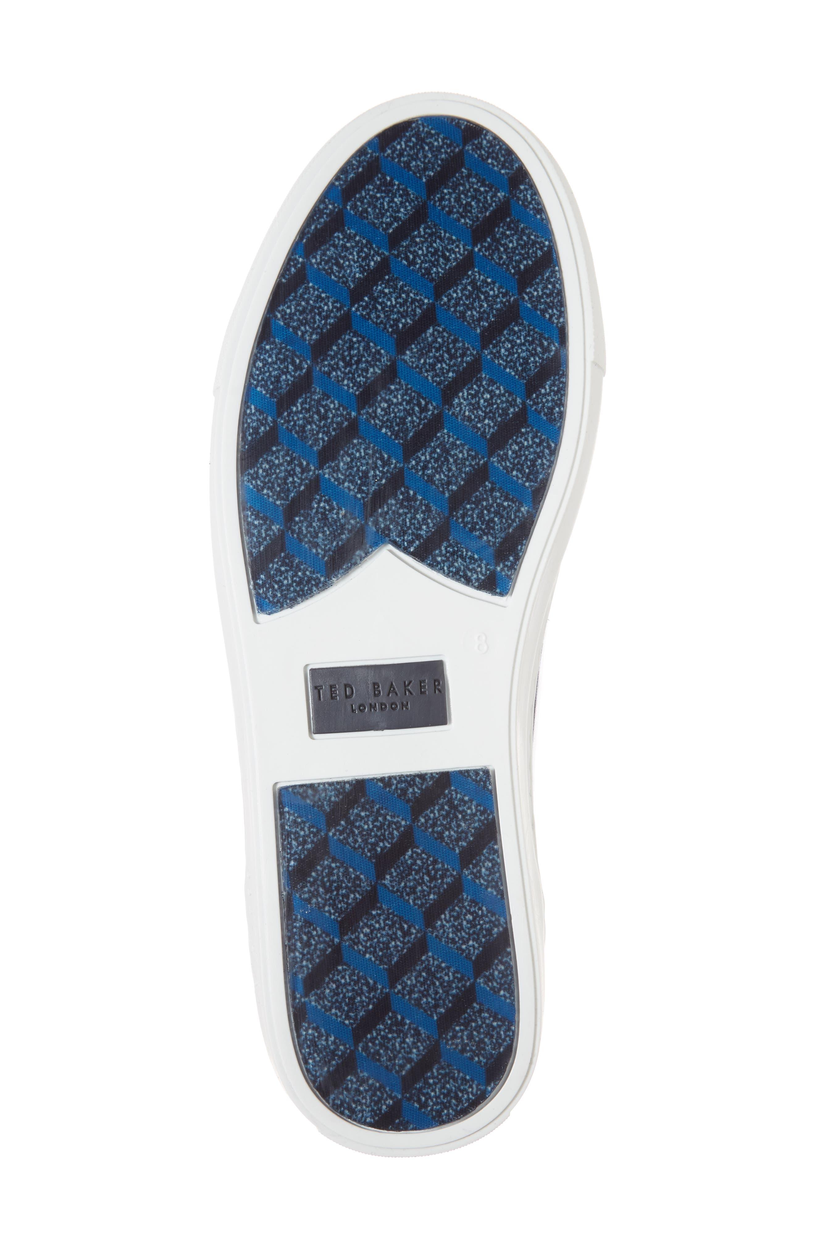 Duuke 2 Sneaker,                             Alternate thumbnail 6, color,                             Midnight Blue Leather