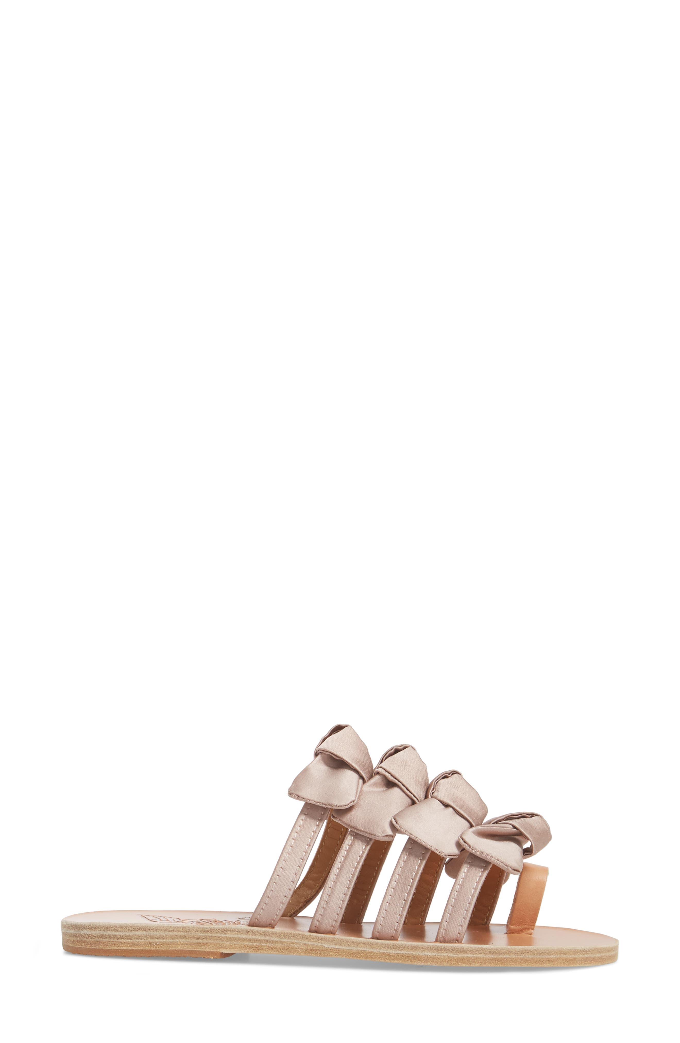 Hara Toe Loop Slide Sandal,                             Alternate thumbnail 3, color,                             Natural/ Lotus