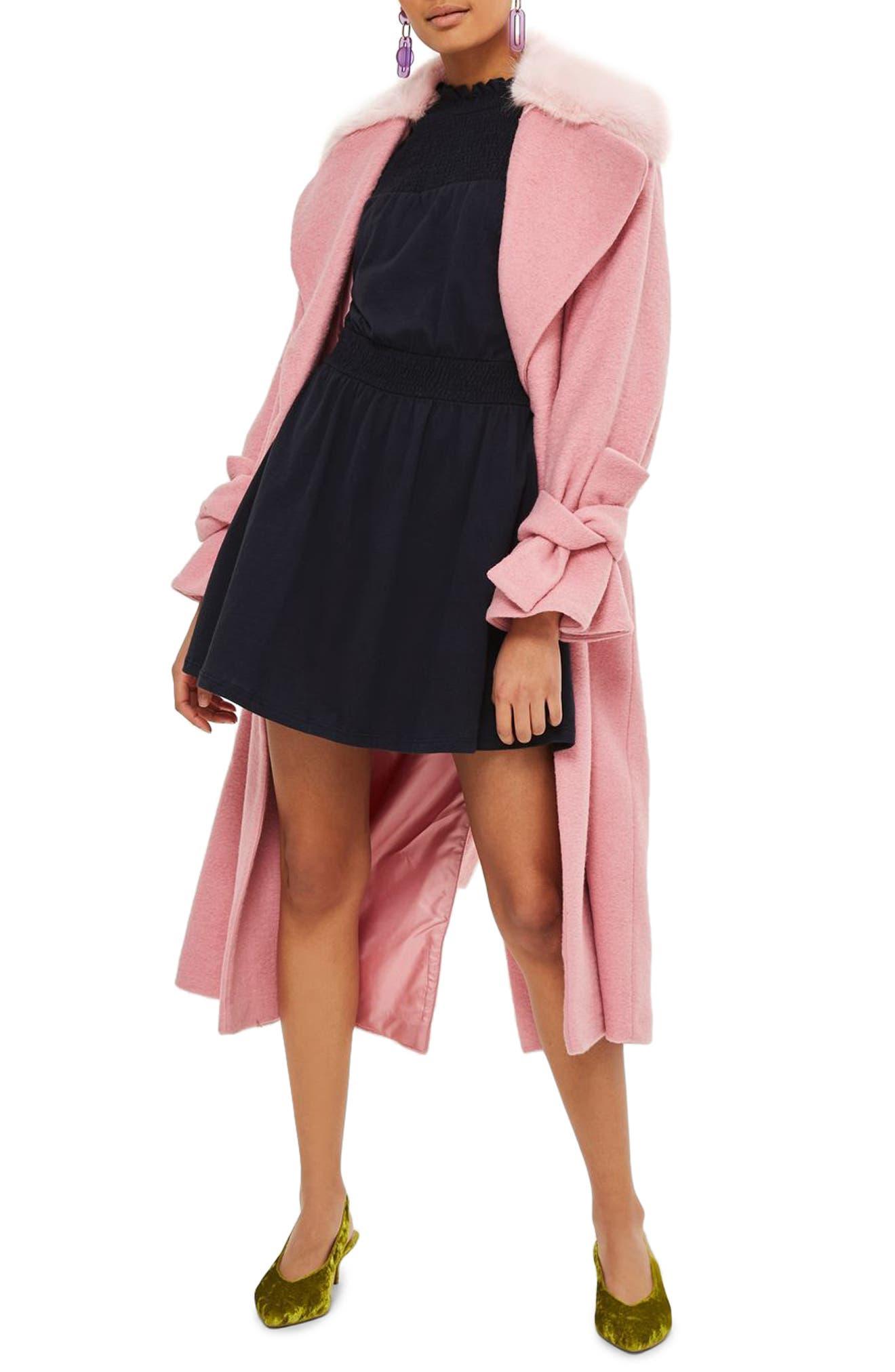 Main Image - Topshop Ruffle Collar Smock Dress