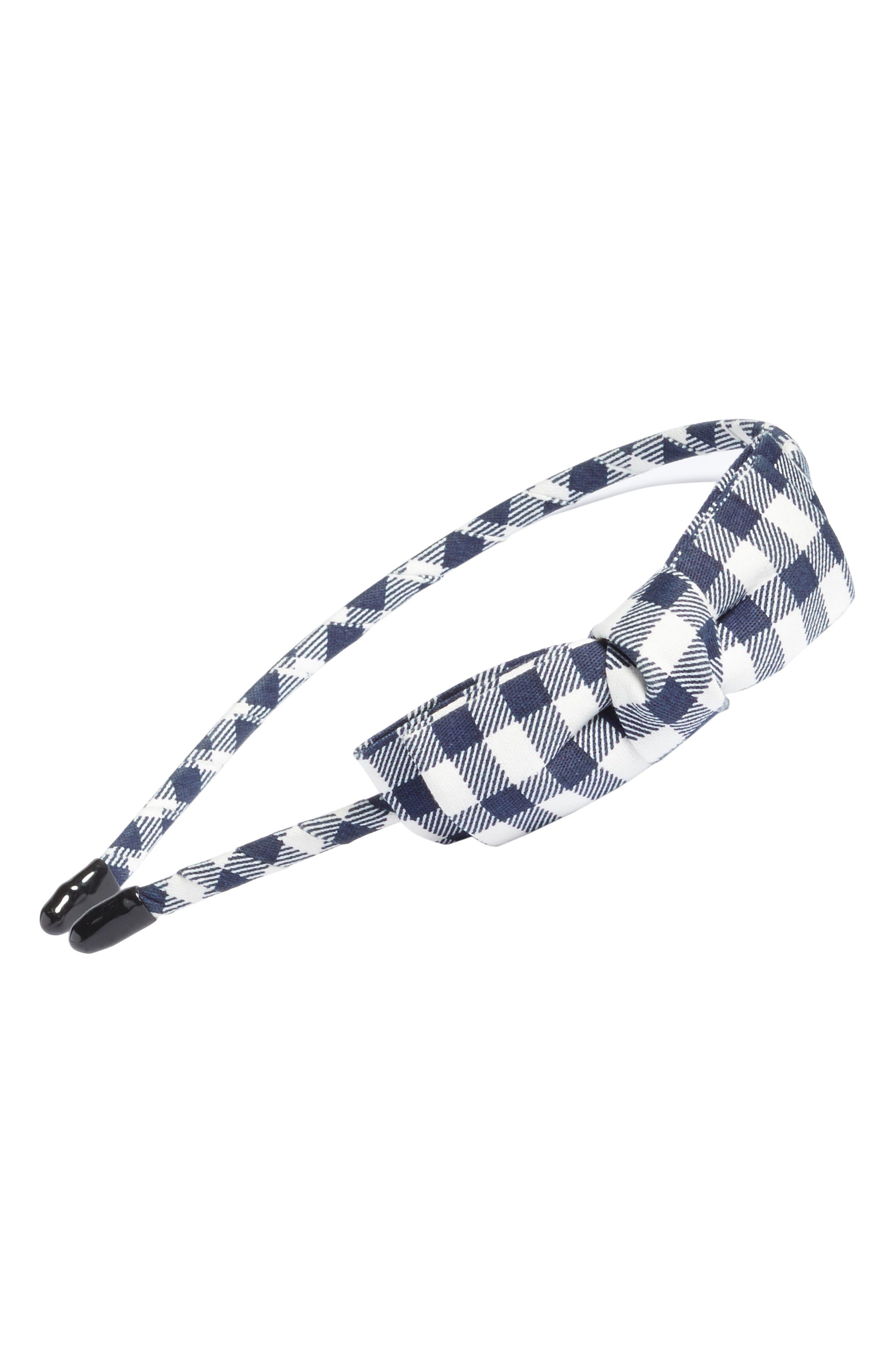 Alternate Image 1 Selected - Cara Gingham Bow Headband