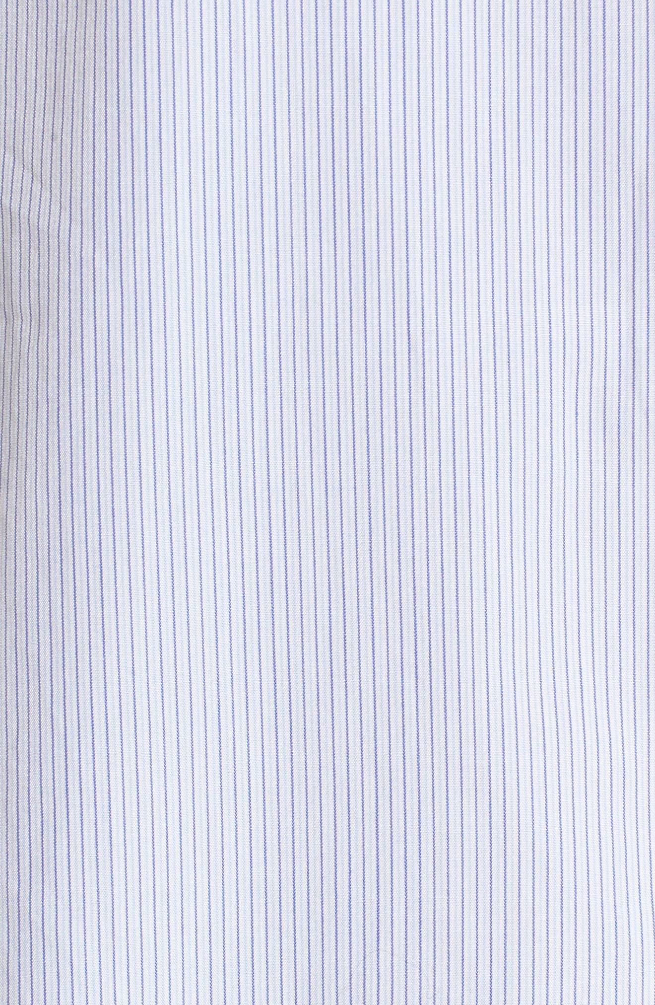 Popover Poplin Shirt,                             Alternate thumbnail 5, color,                             Blue- White Stripe