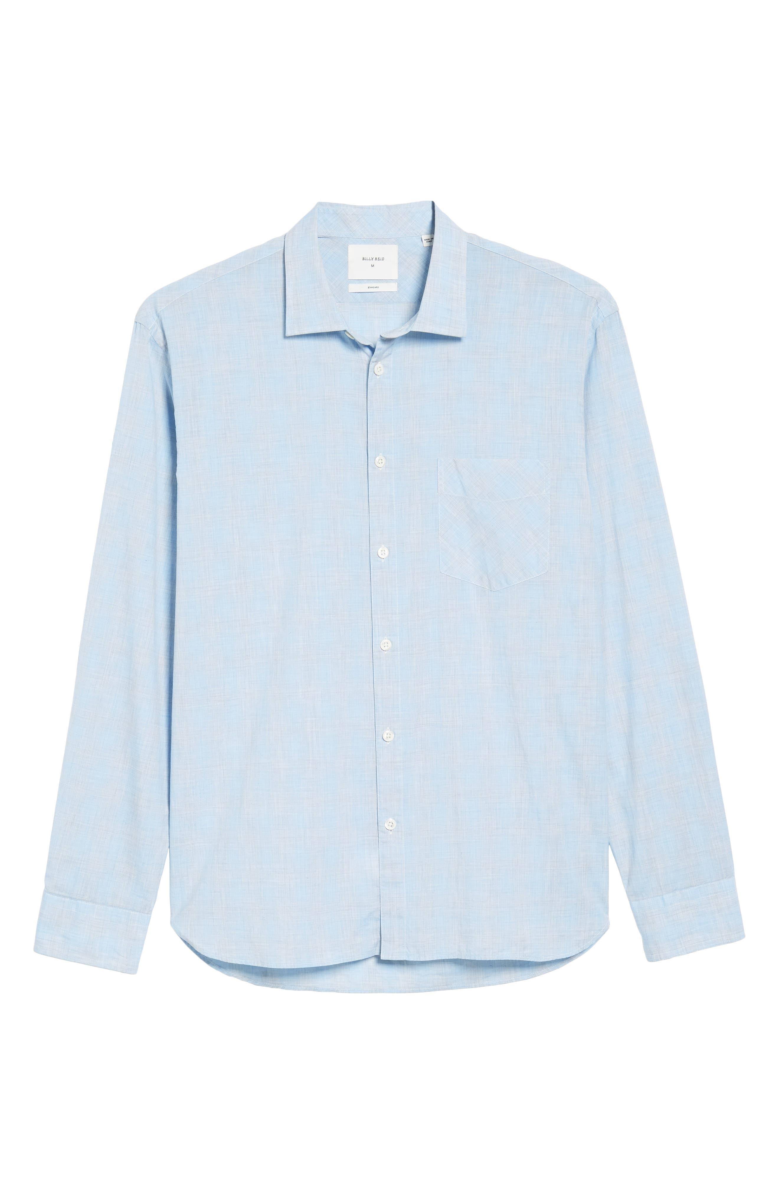 John T Slim Fit Sport Shirt,                             Alternate thumbnail 6, color,                             Light Blue
