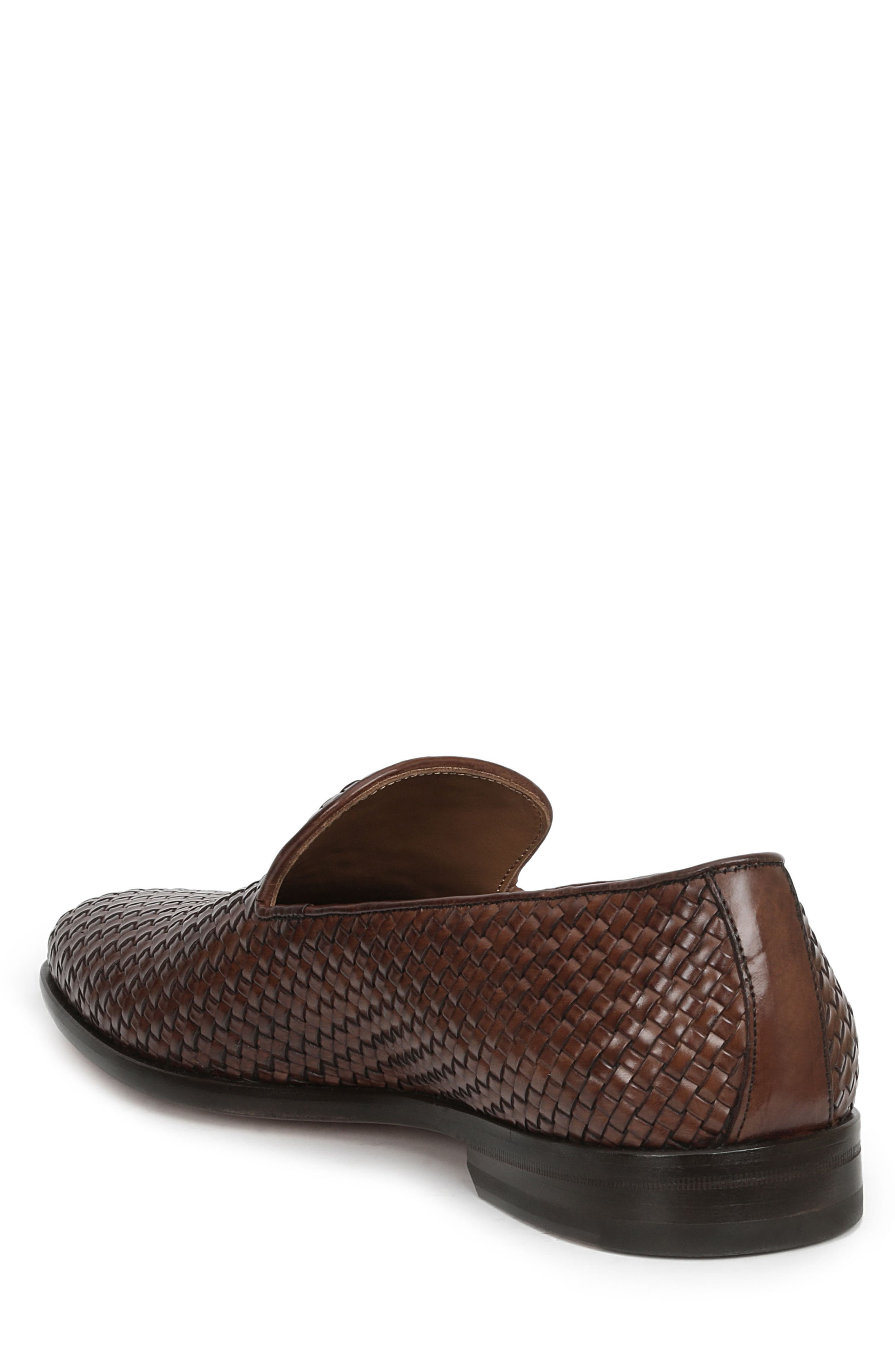 Picasso Woven Venetian Loafer,                             Alternate thumbnail 2, color,                             Cognac