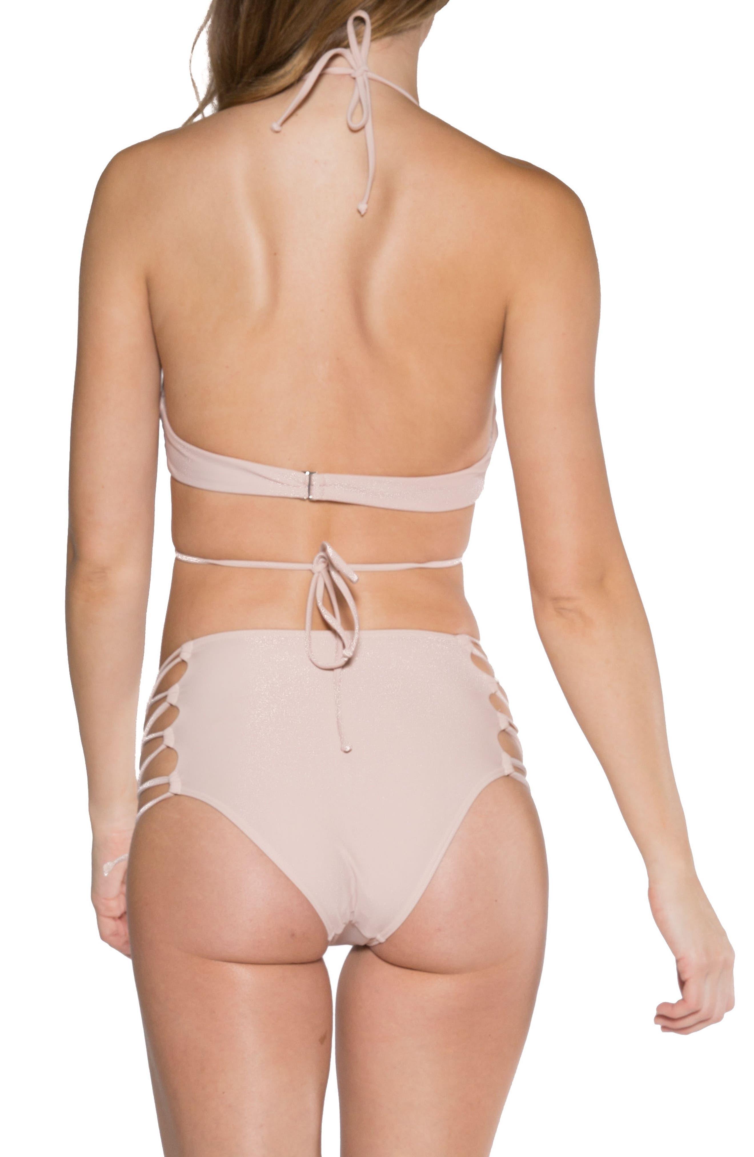 Aleja Wrap Bikini Top,                             Alternate thumbnail 5, color,                             Rose Dust