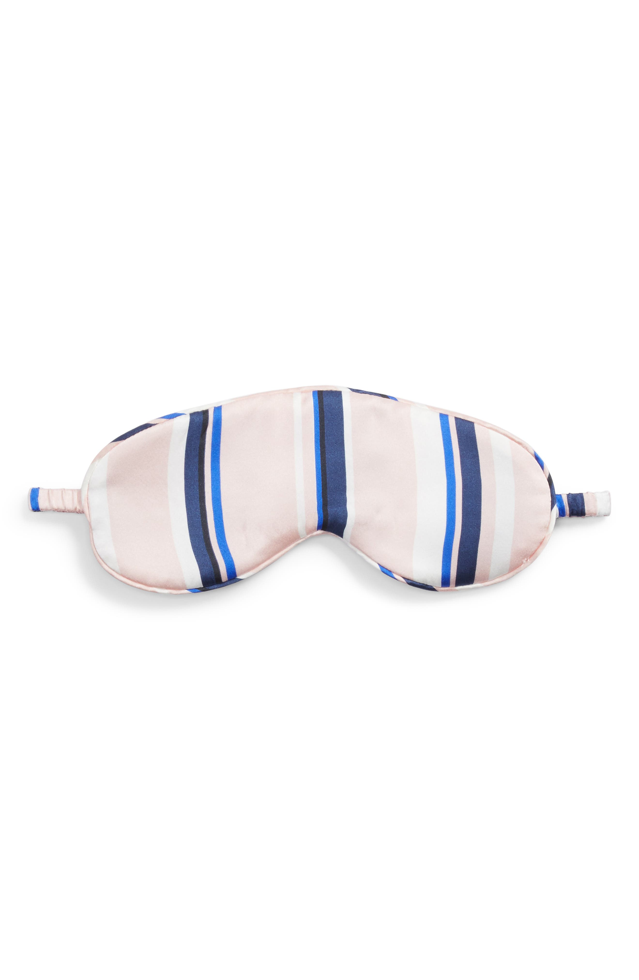 Main Image - Hesper Fox Filipa Stripe Silk Sleep Mask