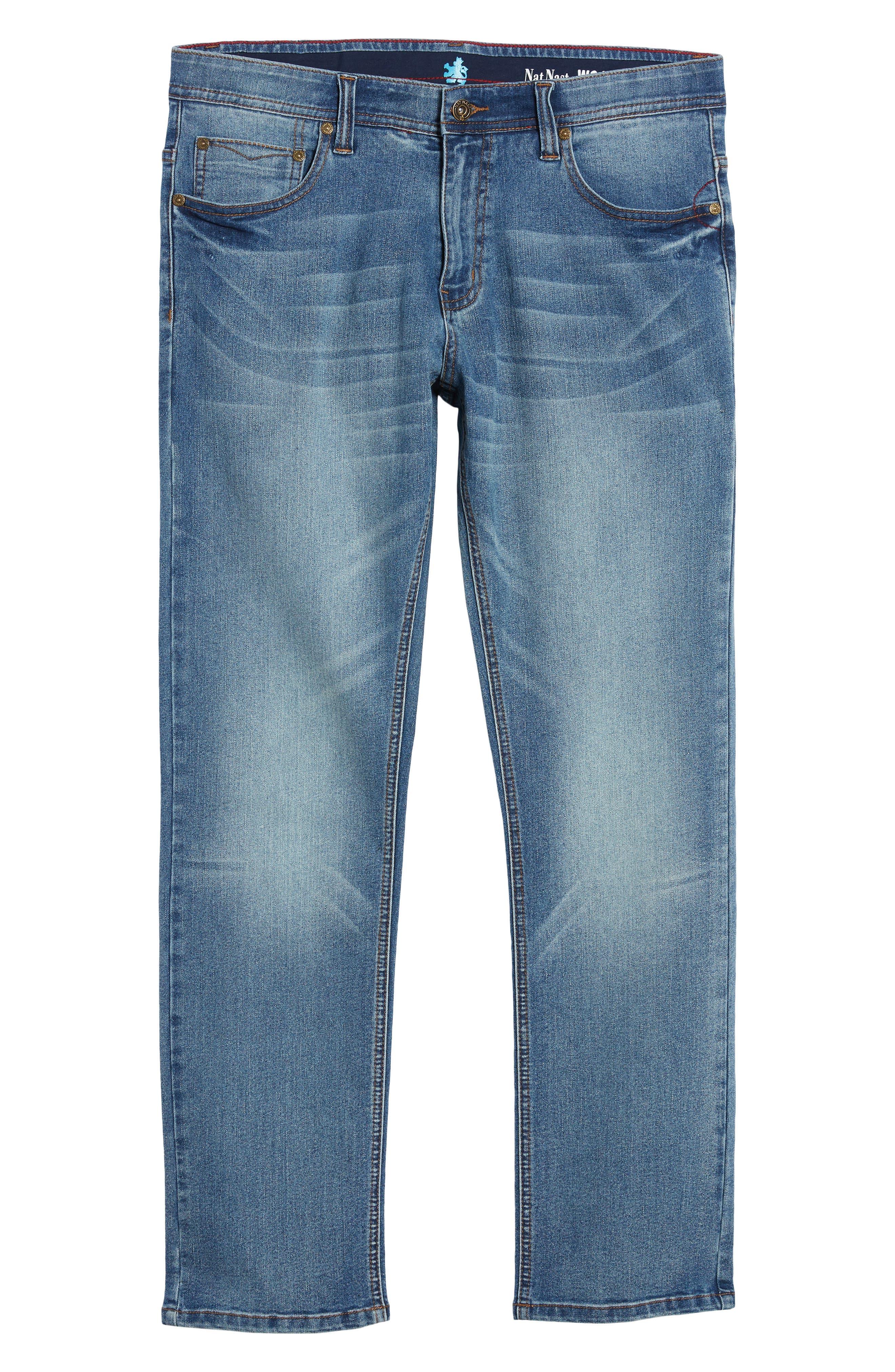 Maverick Stretch Slim Fit Jeans,                             Alternate thumbnail 6, color,                             Beach Wash