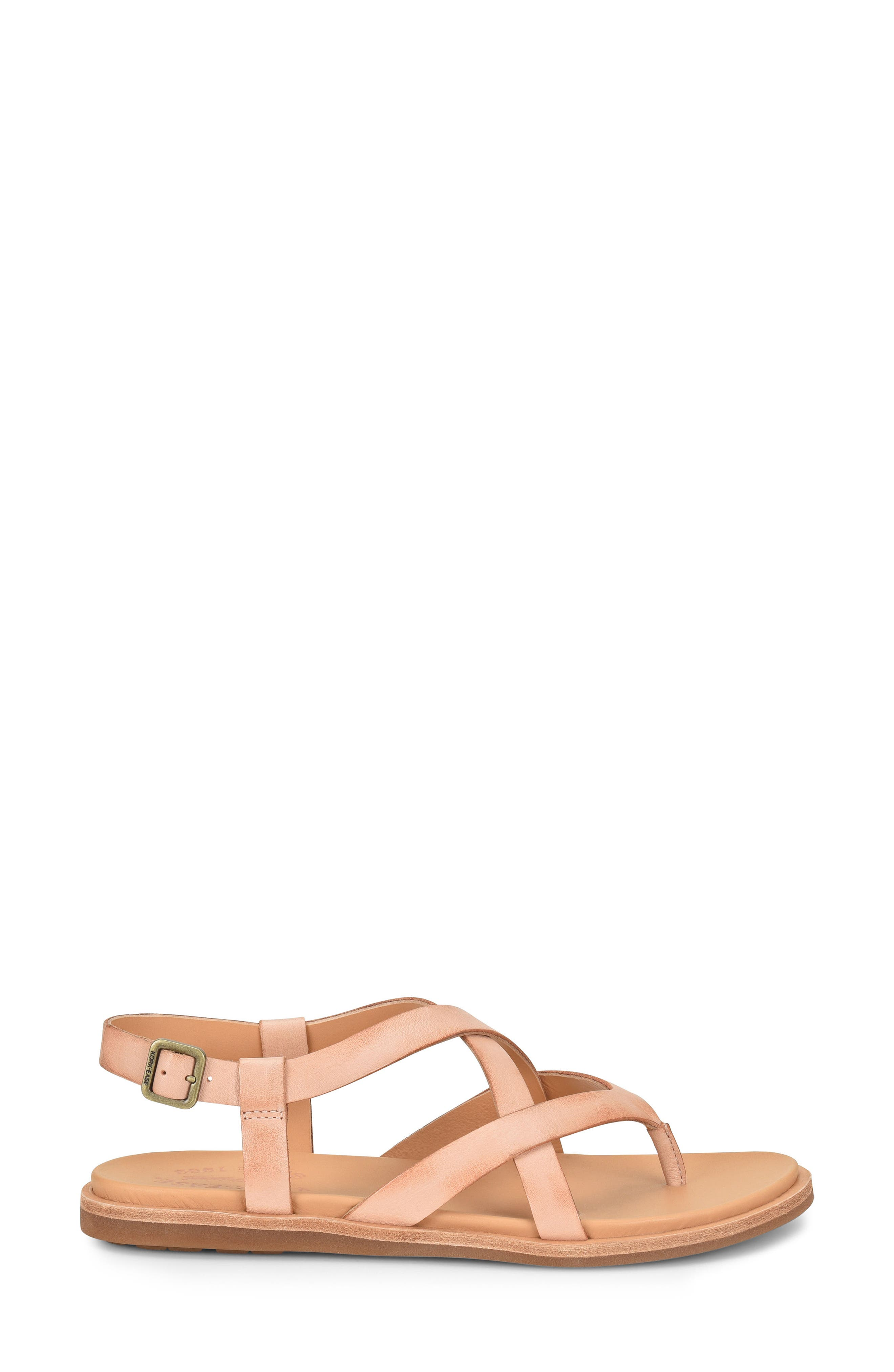 Yarbrough Sandal,                             Alternate thumbnail 3, color,                             Blush Leather