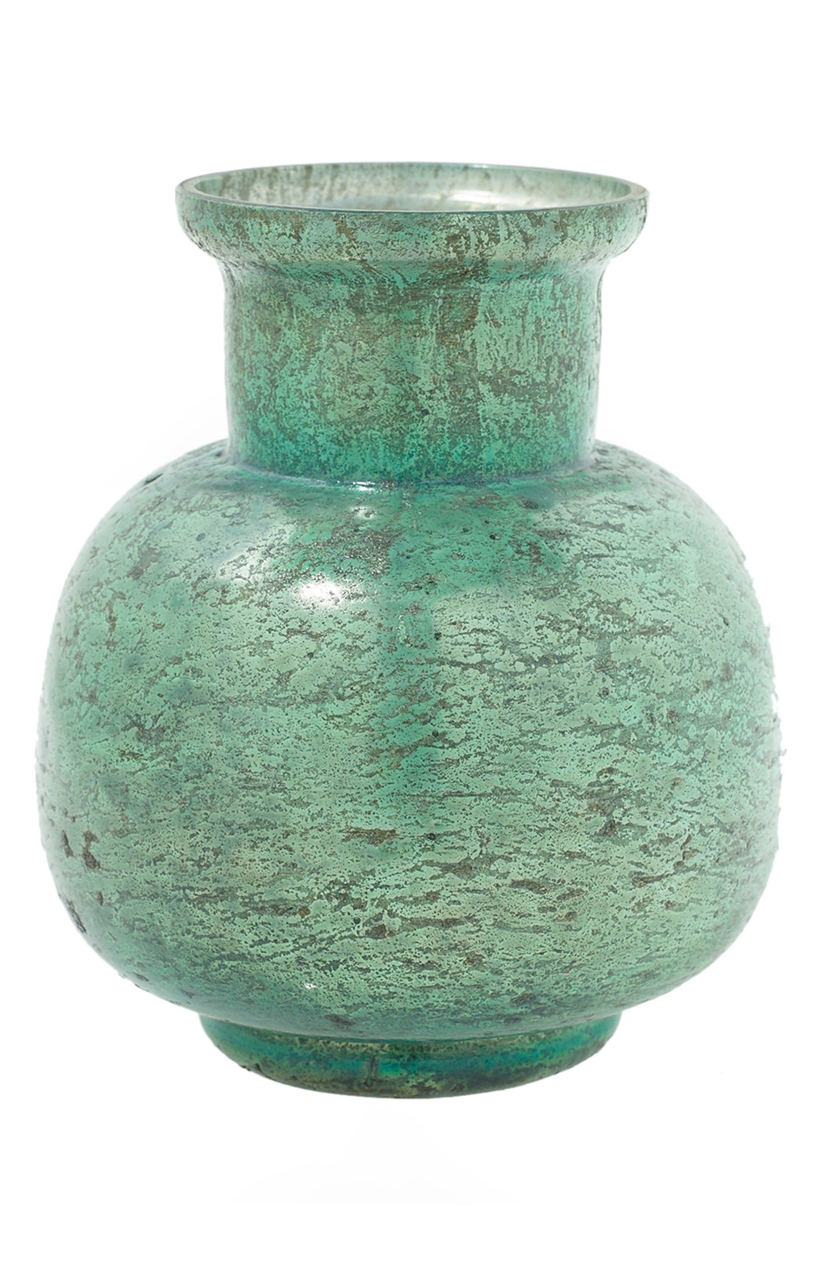 Suncoo Mercury Glass Vase,                             Main thumbnail 1, color,                             Seafoam