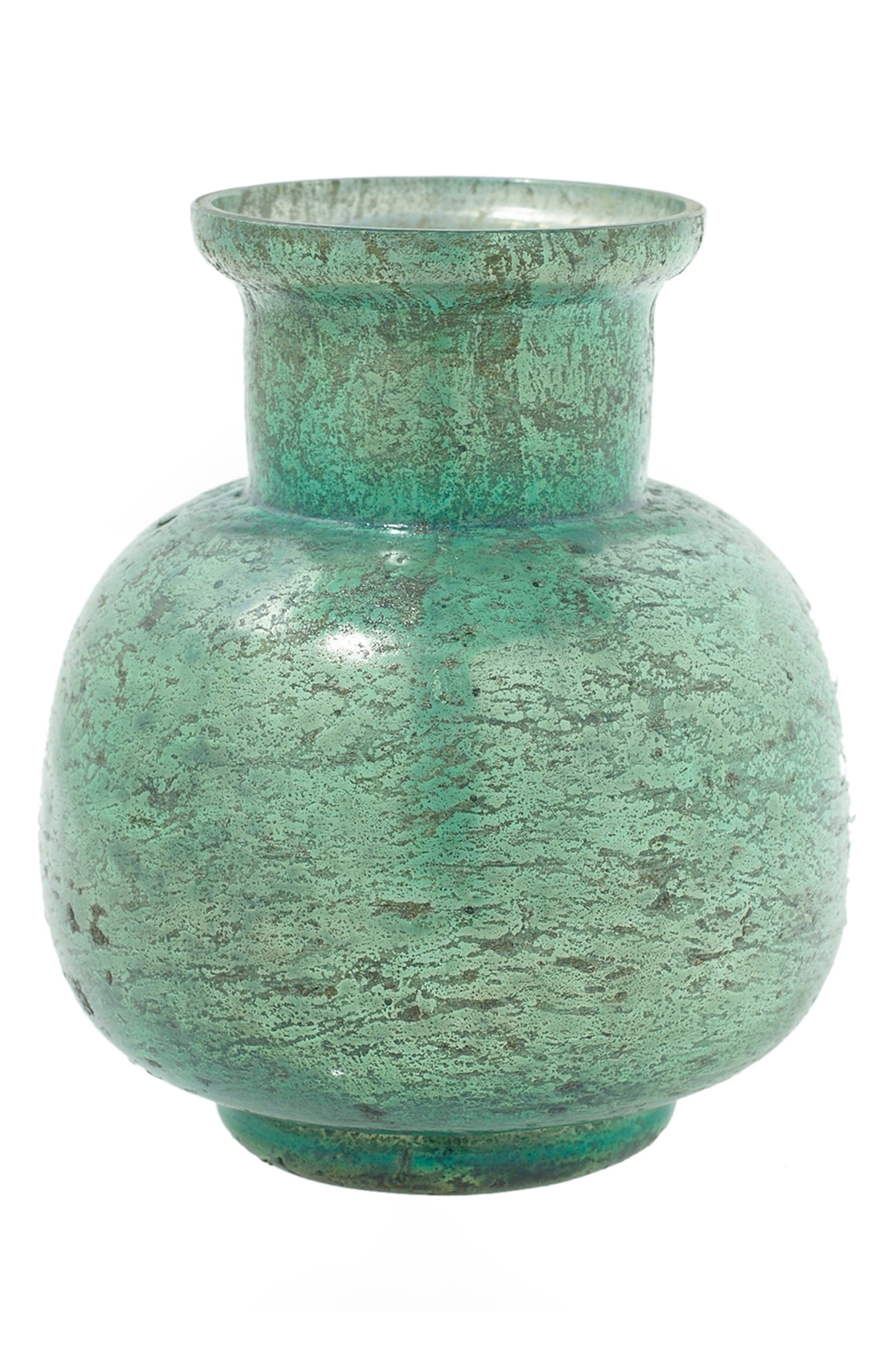 Suncoo Mercury Glass Vase,                         Main,                         color, Seafoam