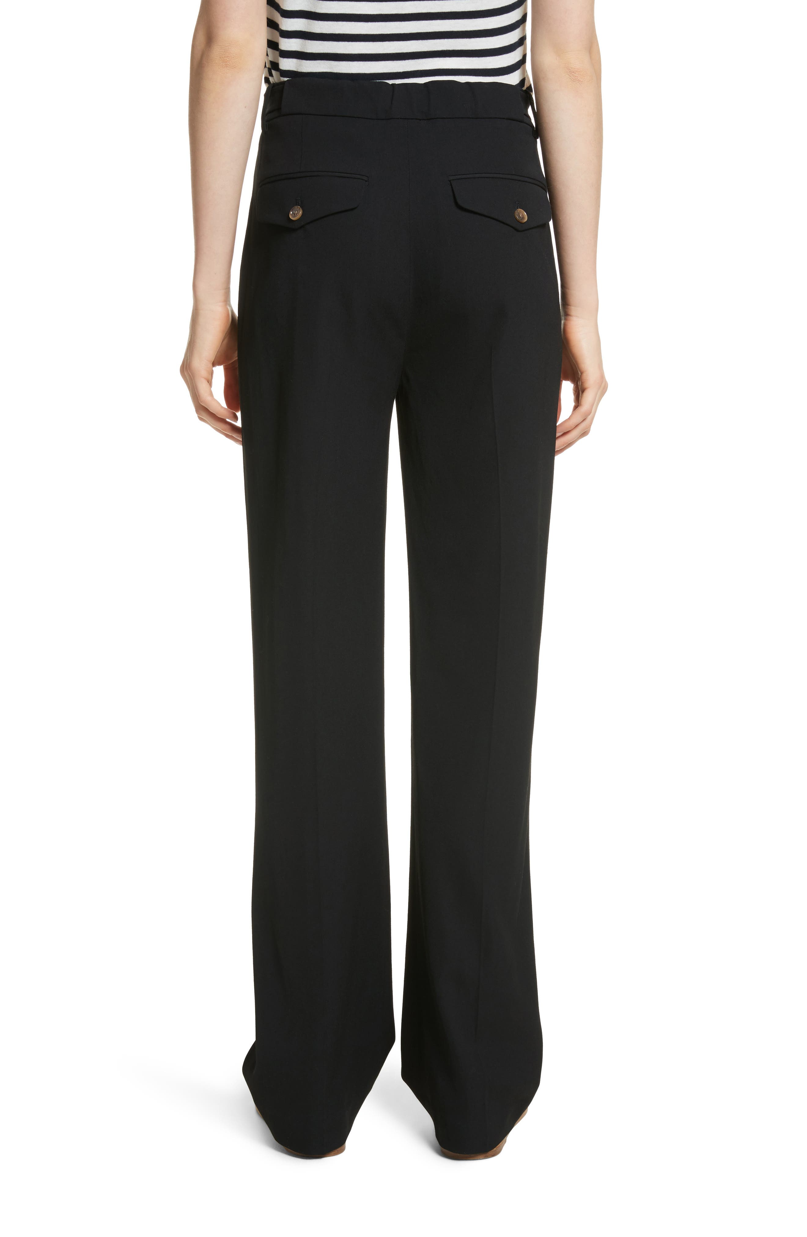 Relaxed Trousers,                             Alternate thumbnail 2, color,                             Black