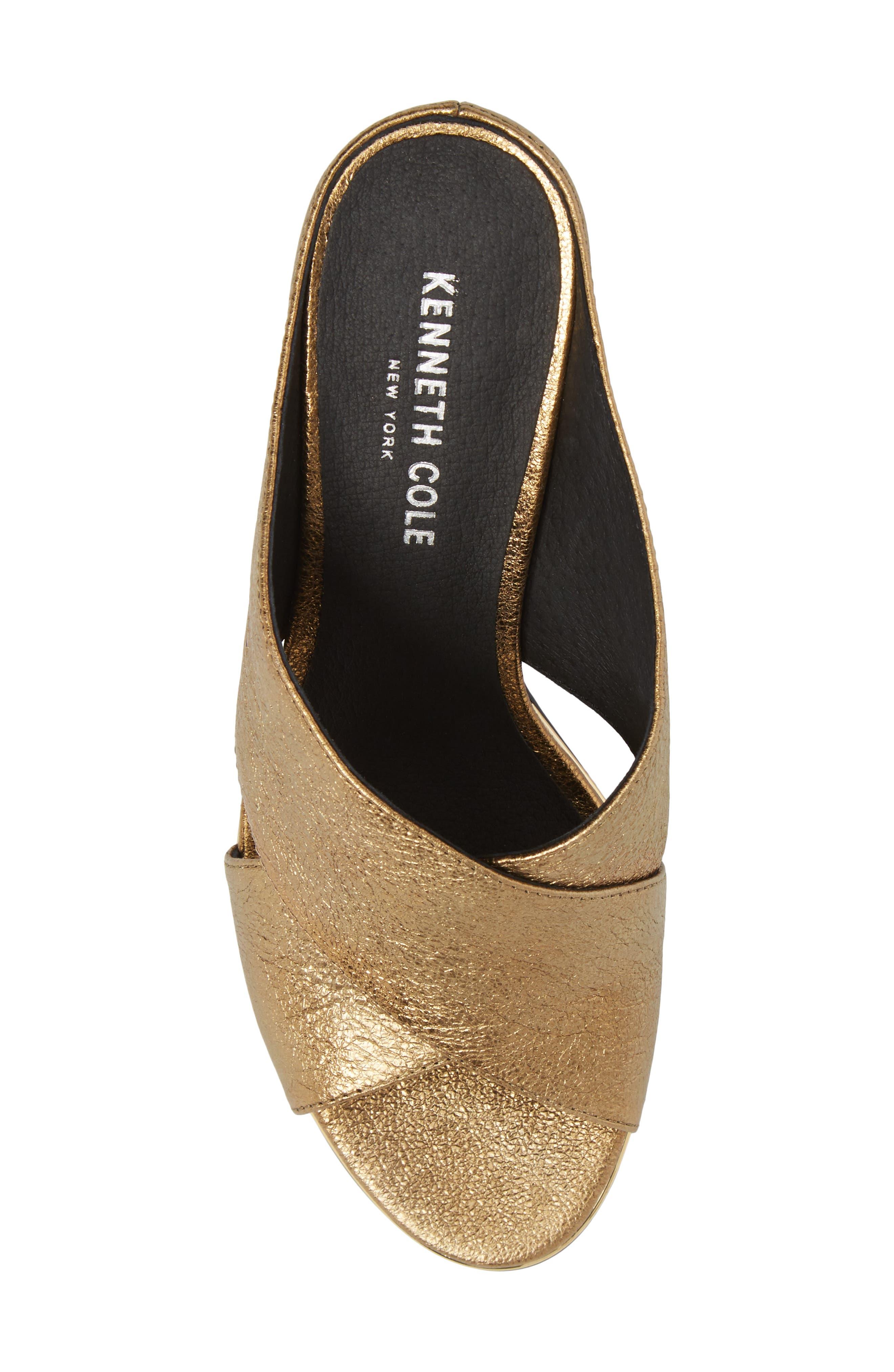 Lyra Sandal,                             Alternate thumbnail 5, color,                             Gold Metallic Leather