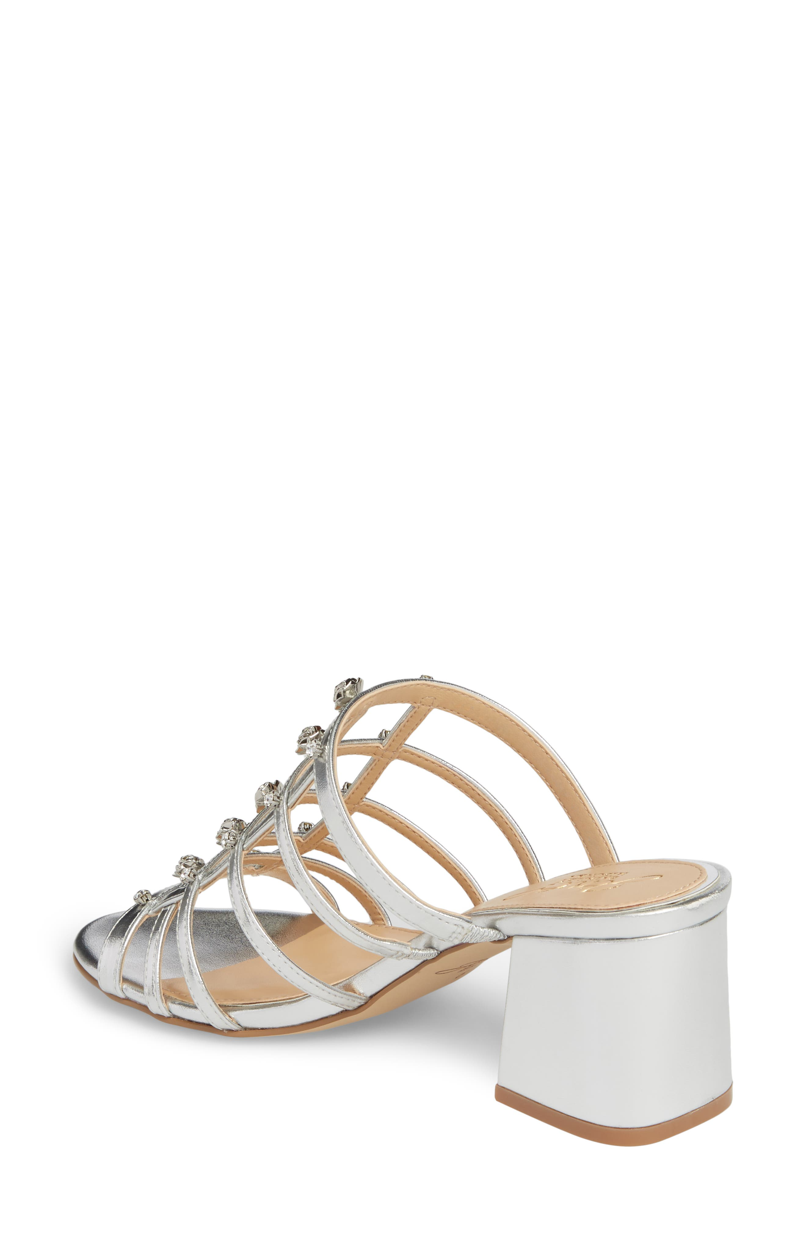 Alternate Image 2  - Jewel Badgley Mischka Thorne Crystal Rose Embellished Slide Sandal (Women)