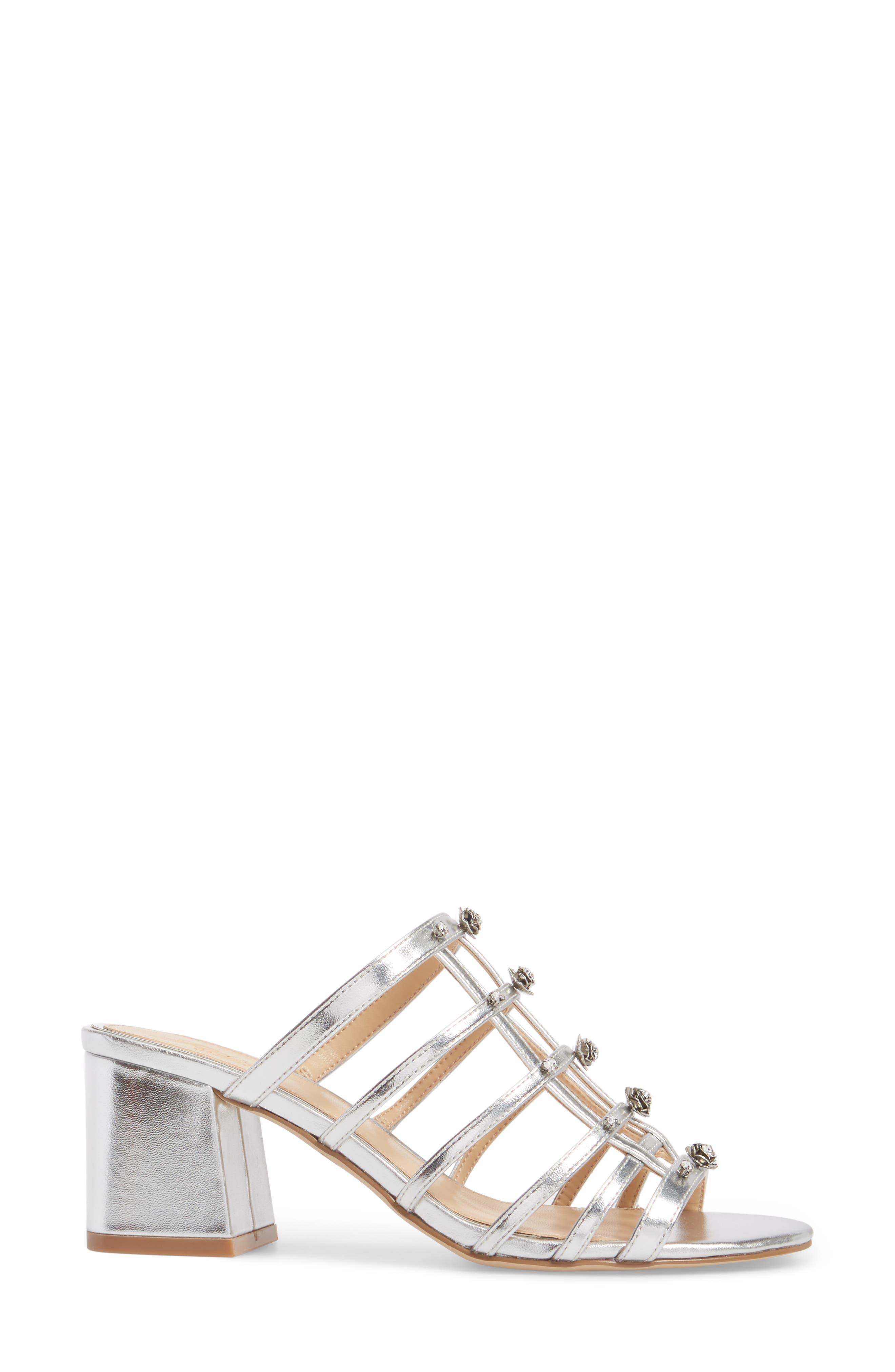 Alternate Image 3  - Jewel Badgley Mischka Thorne Crystal Rose Embellished Slide Sandal (Women)
