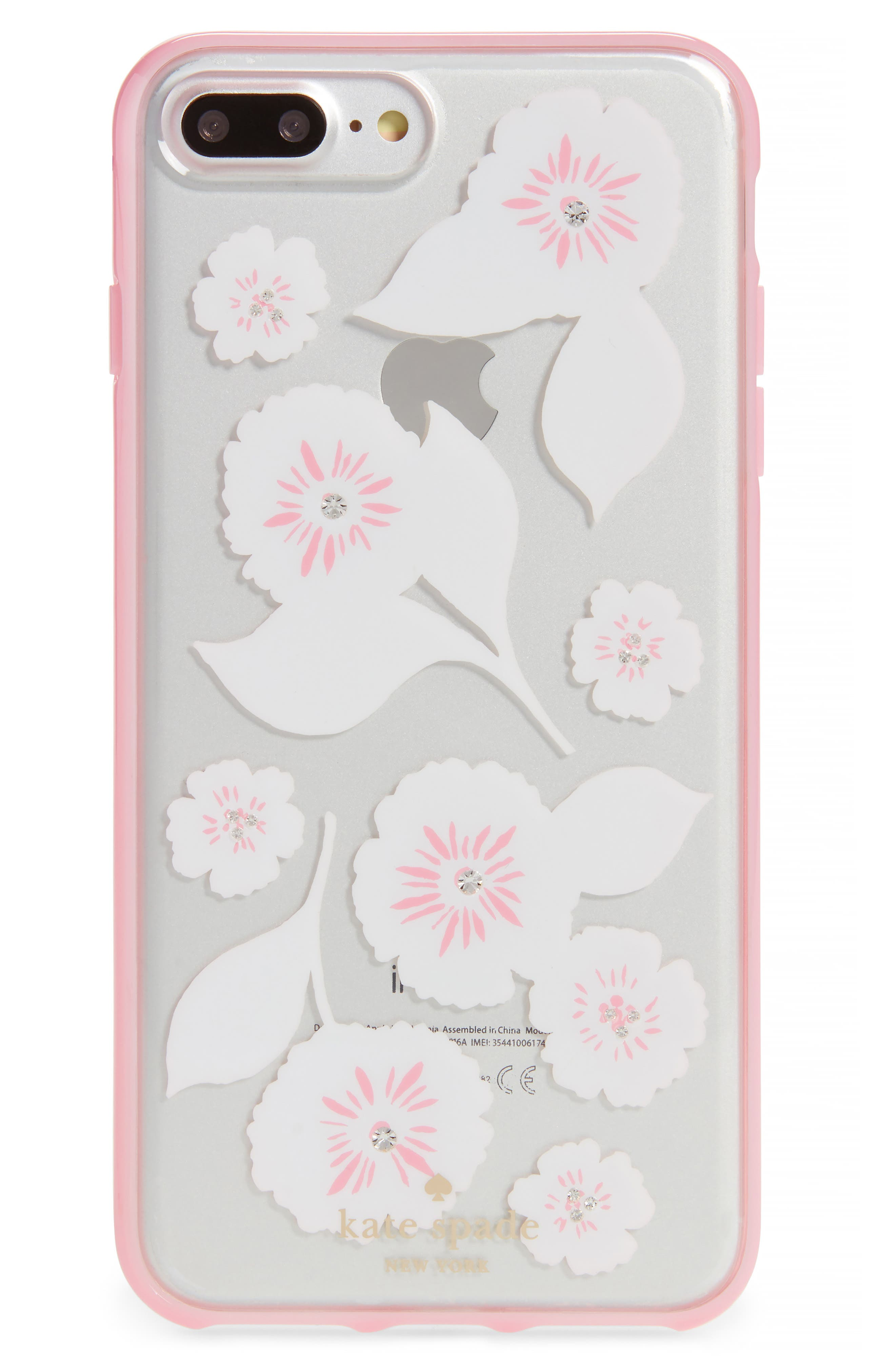Main Image - kate spade new york crystal embellished iPhone 6/6s/7/8 & 6/6s/7/8 Plus case