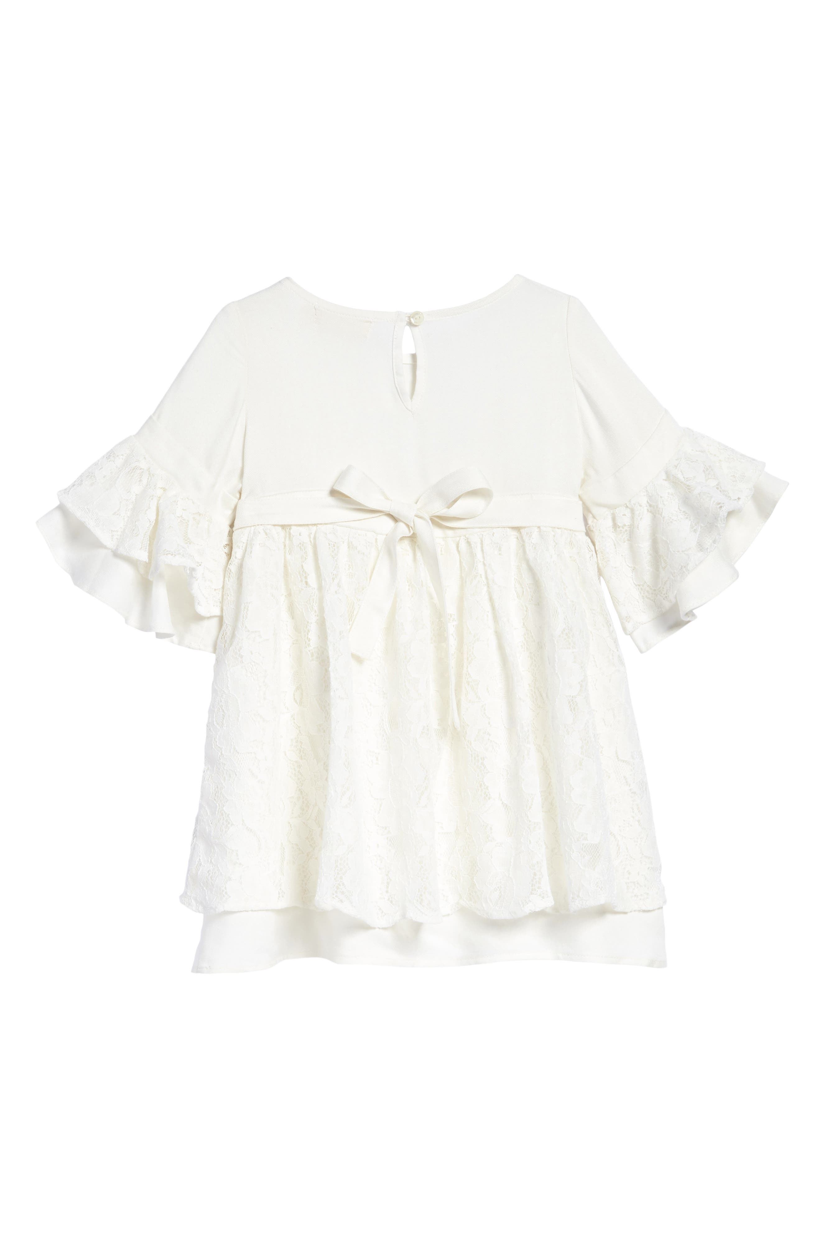 Lyla Lace Dress,                             Alternate thumbnail 2, color,                             Ivory
