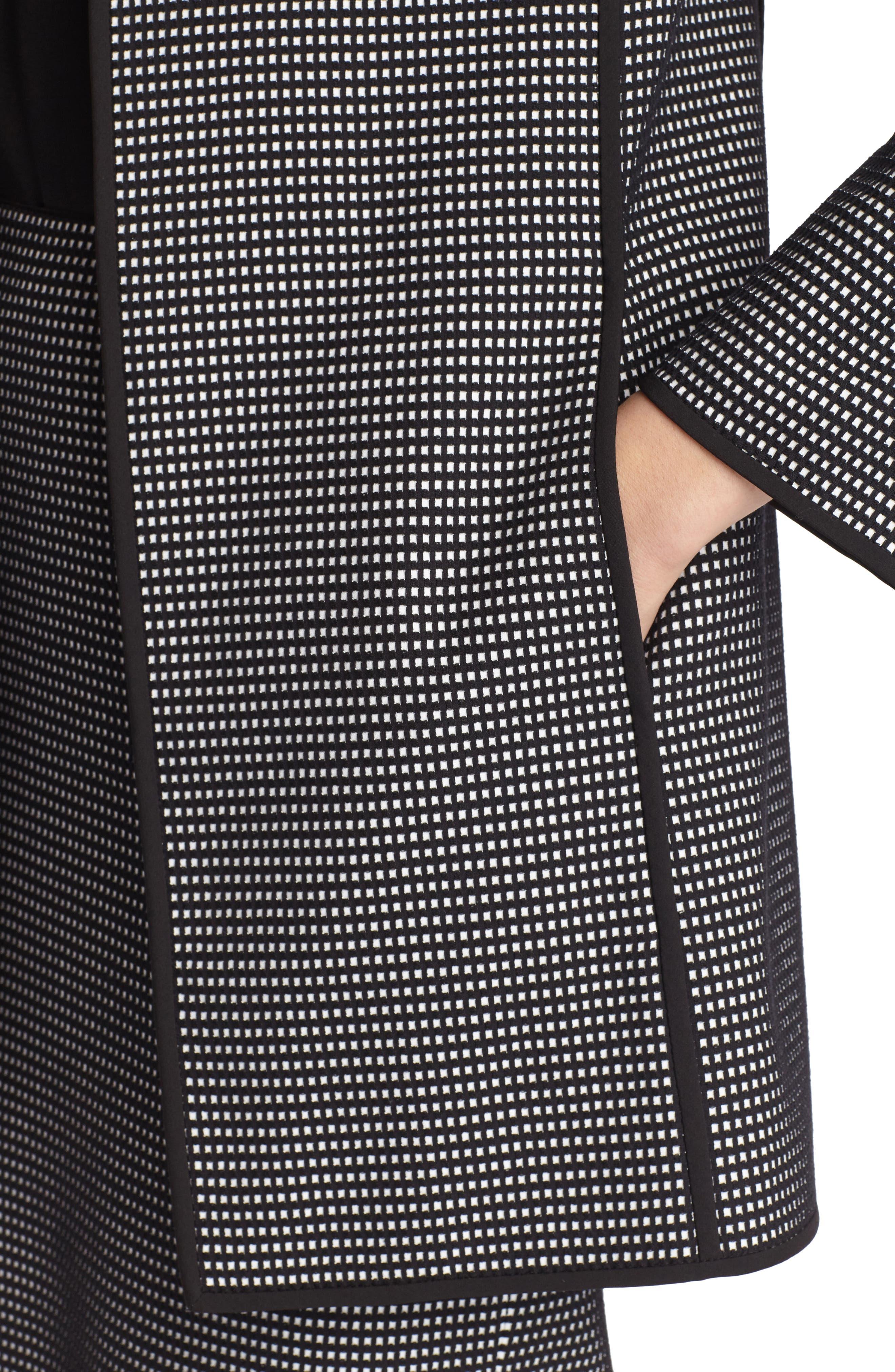 Pria Check Jacket,                             Alternate thumbnail 3, color,                             Black Multi