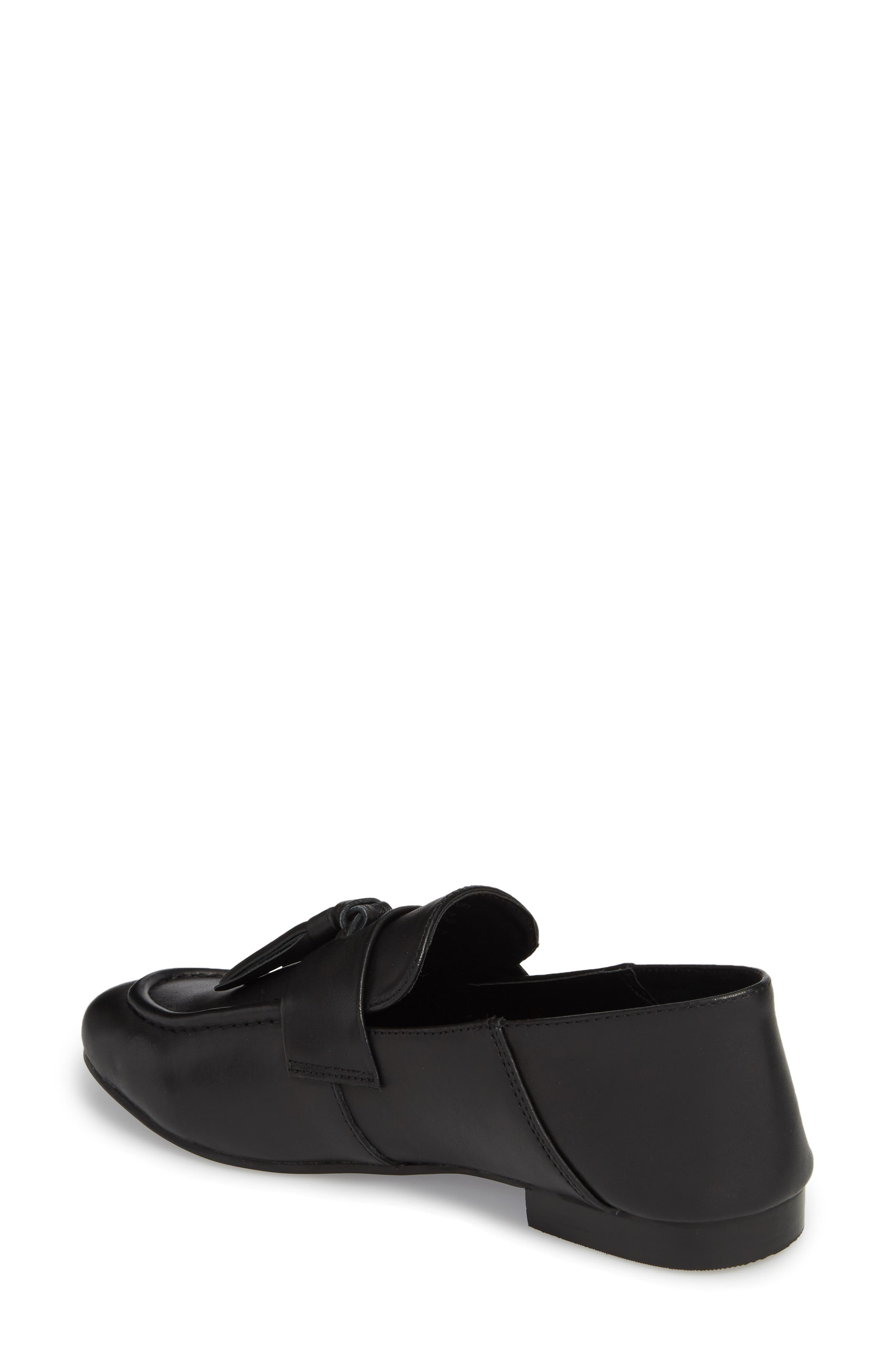 Beck Convertible Tasseled Loafer,                             Alternate thumbnail 2, color,                             Black Leather
