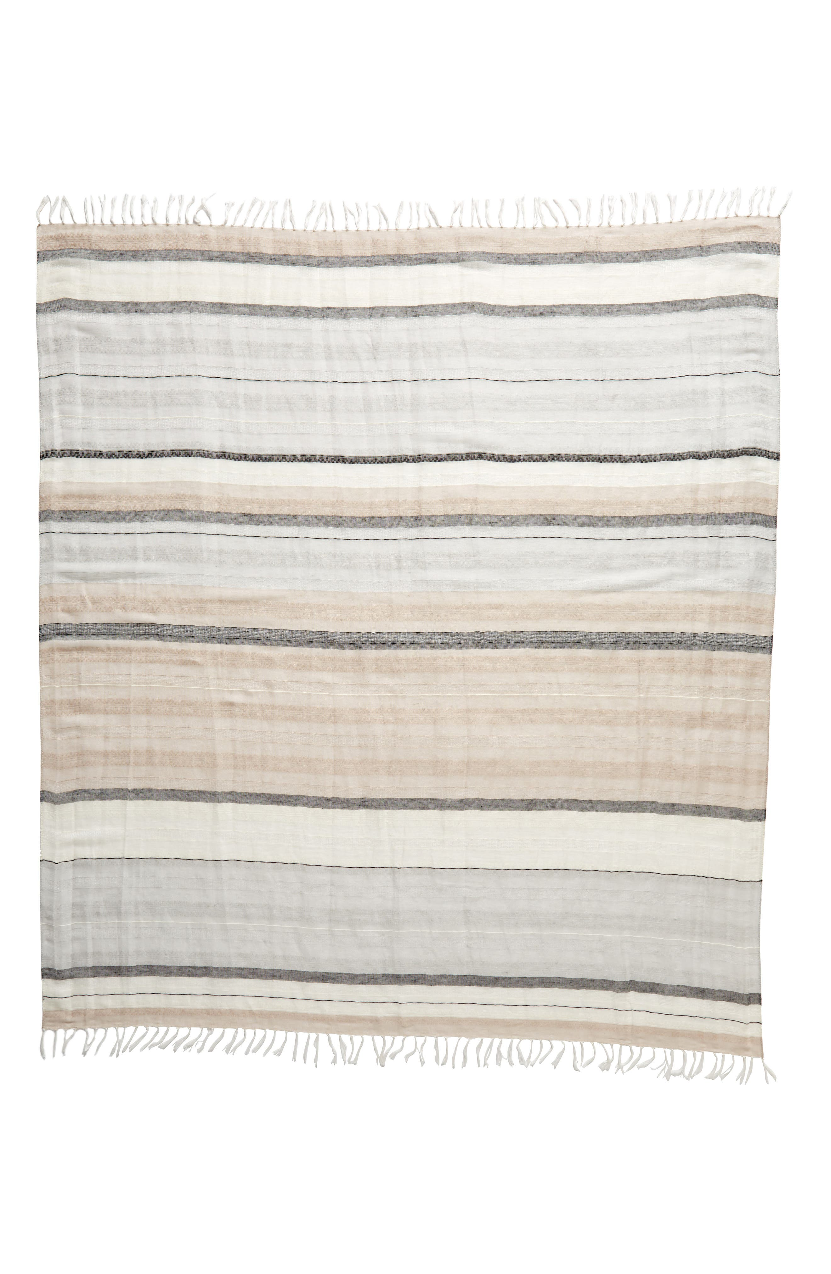 Stripe Scarf,                             Alternate thumbnail 3, color,                             Grey- Combo