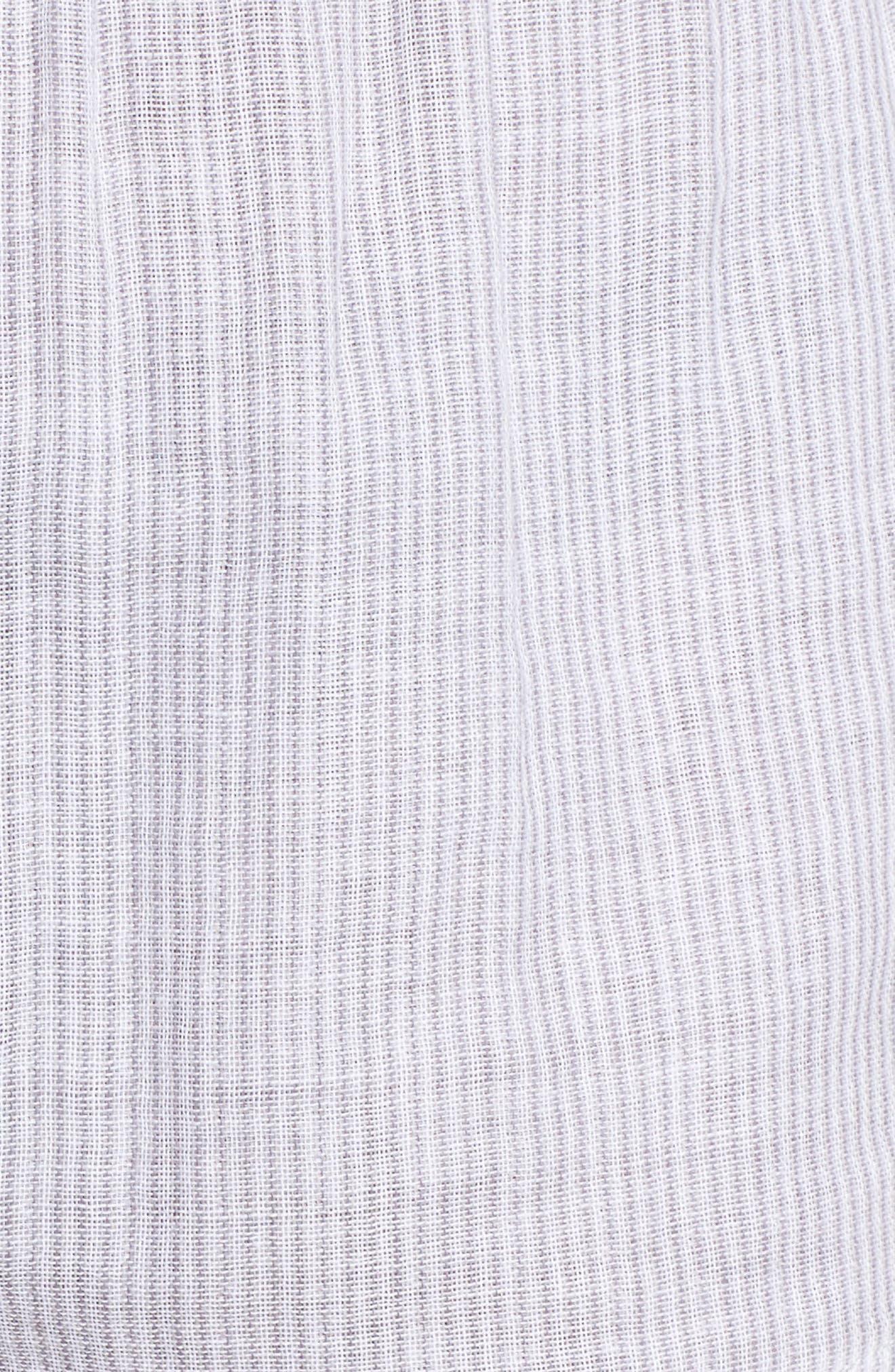 Stripe Pajama Shorts,                             Alternate thumbnail 7, color,                             Grey/ White