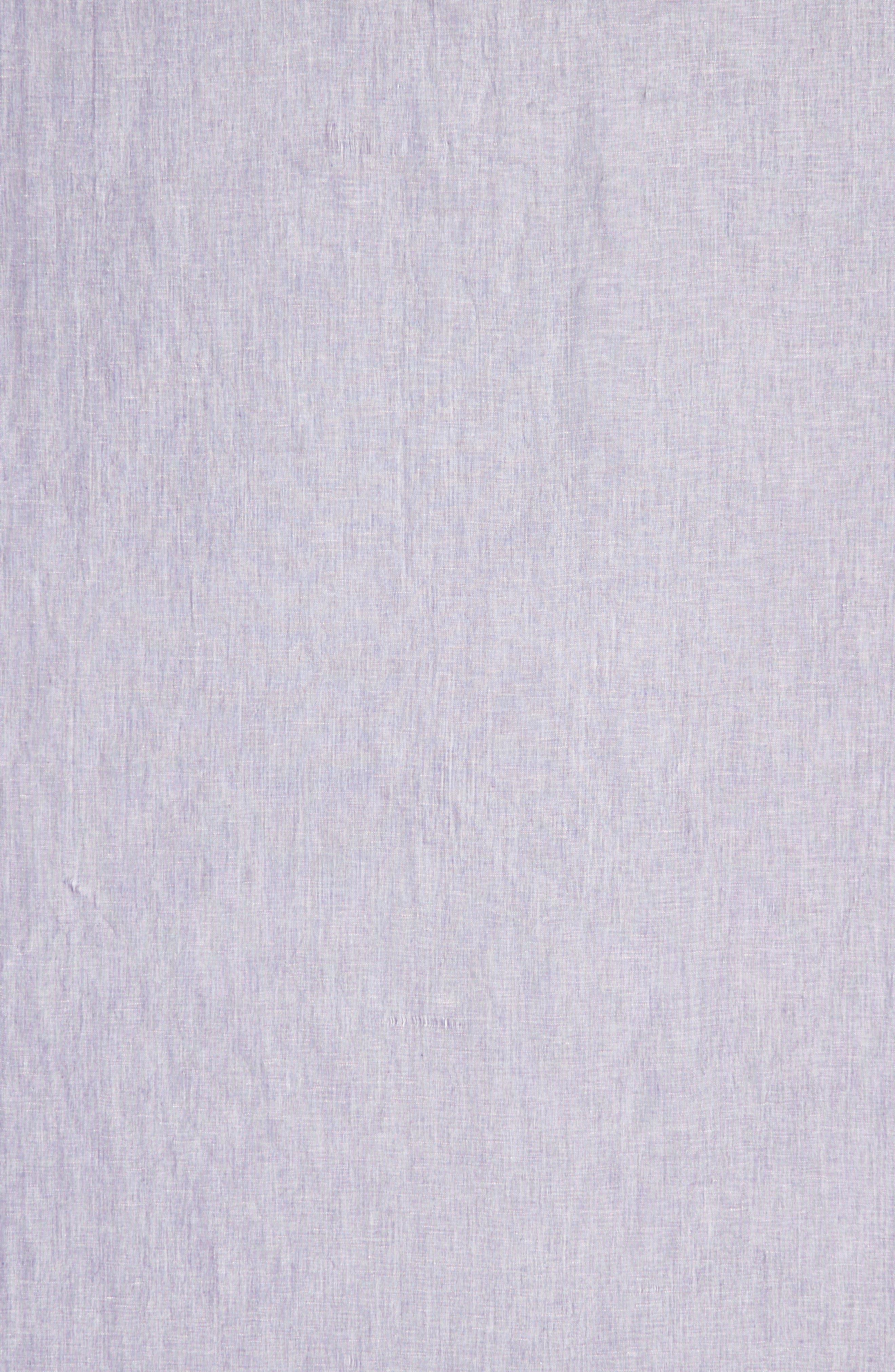 Cross Dyed Linen Blend Scarf,                             Alternate thumbnail 4, color,                             Purple Orient Combo