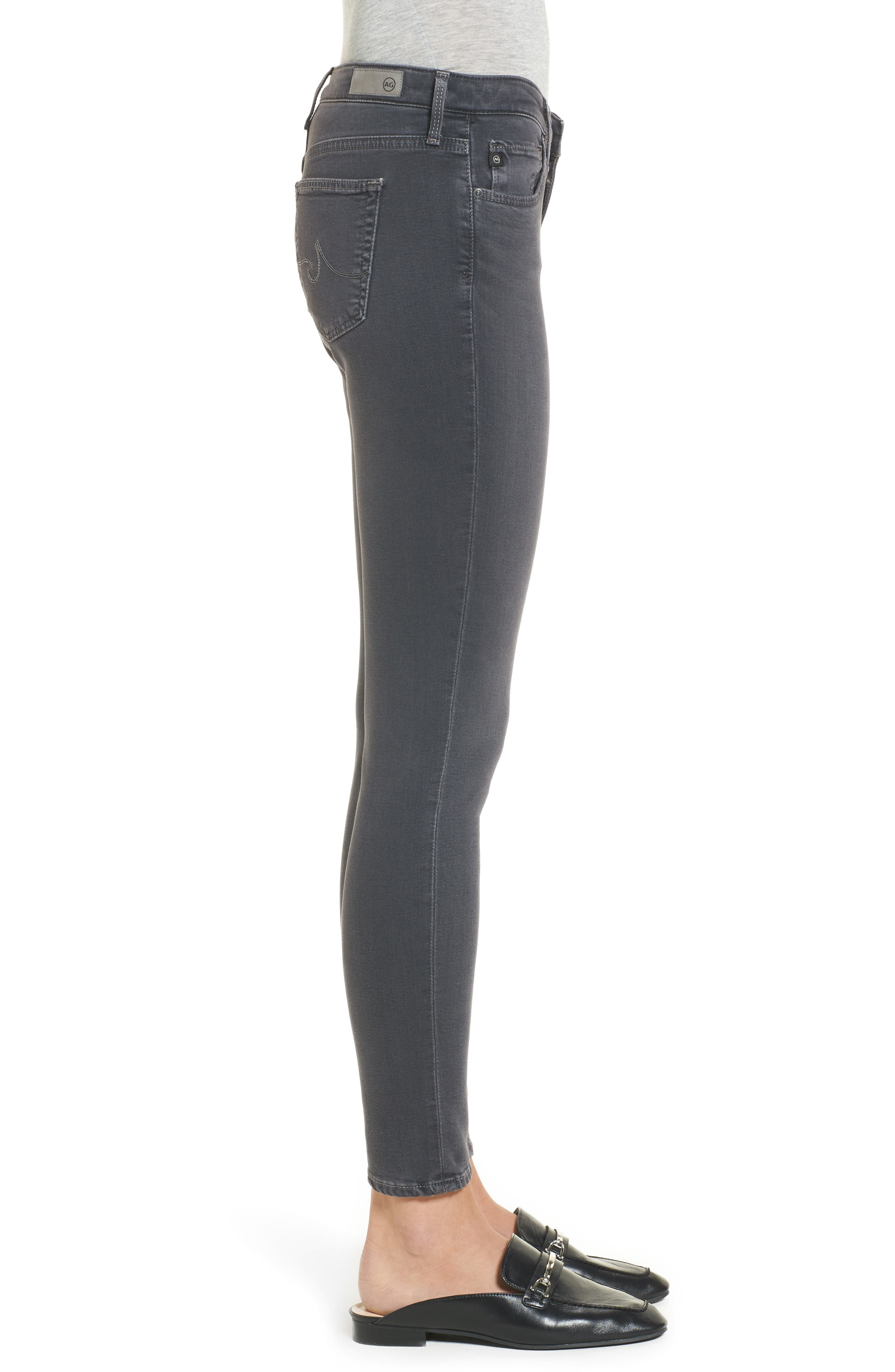 Ankle 'The Legging' Super Skinny Jeans,                             Alternate thumbnail 3, color,                             Raven Plume