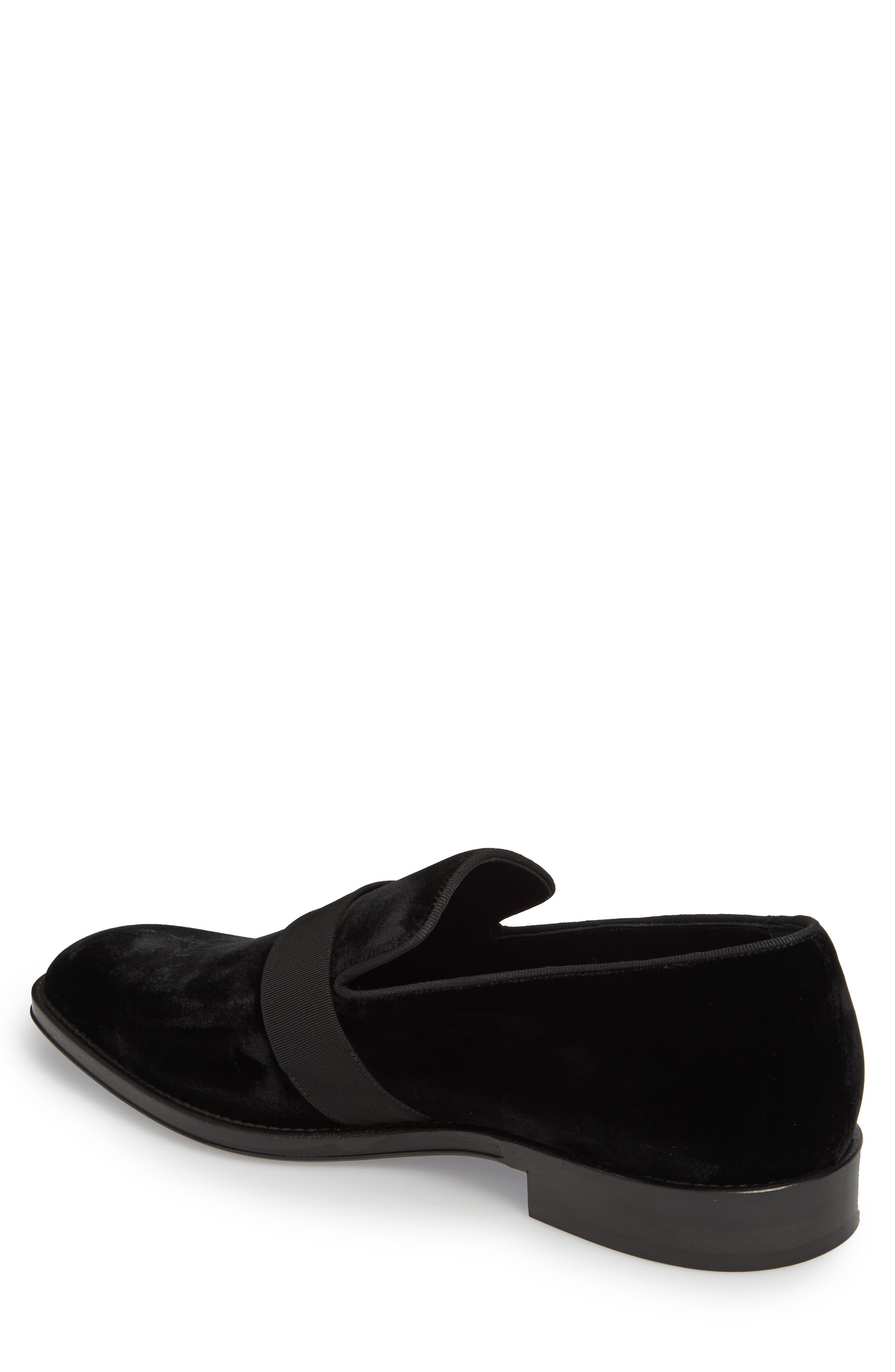 Velvet Loafer,                             Alternate thumbnail 2, color,                             Black