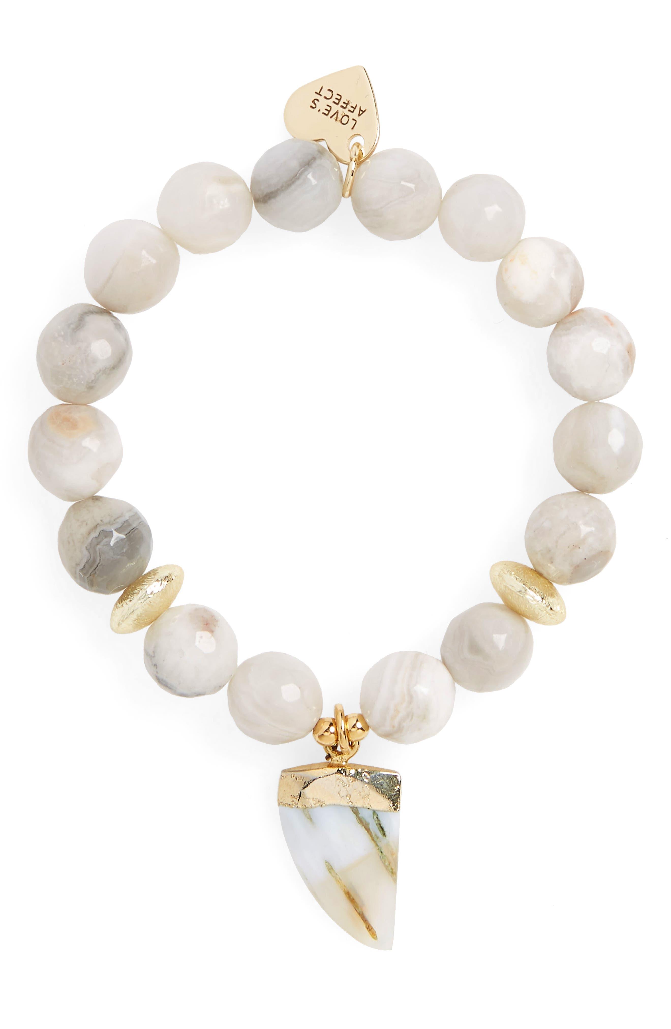 Love's Affect Asher Semiprecious Stretch Bracelet