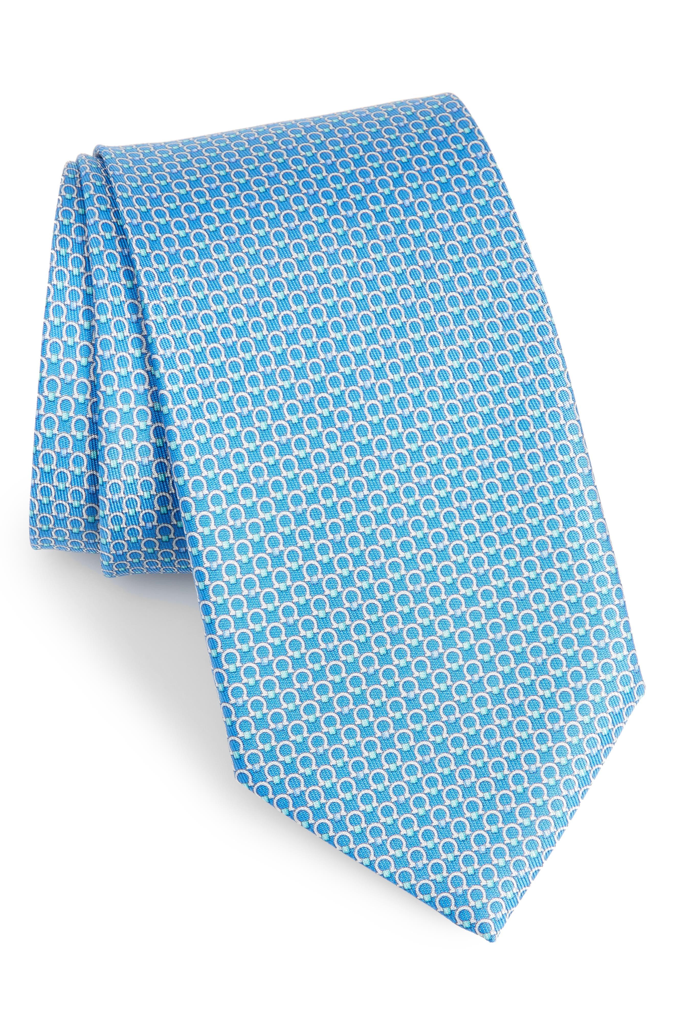 Energia Omega Print Silk Tie,                             Main thumbnail 1, color,                             Blue