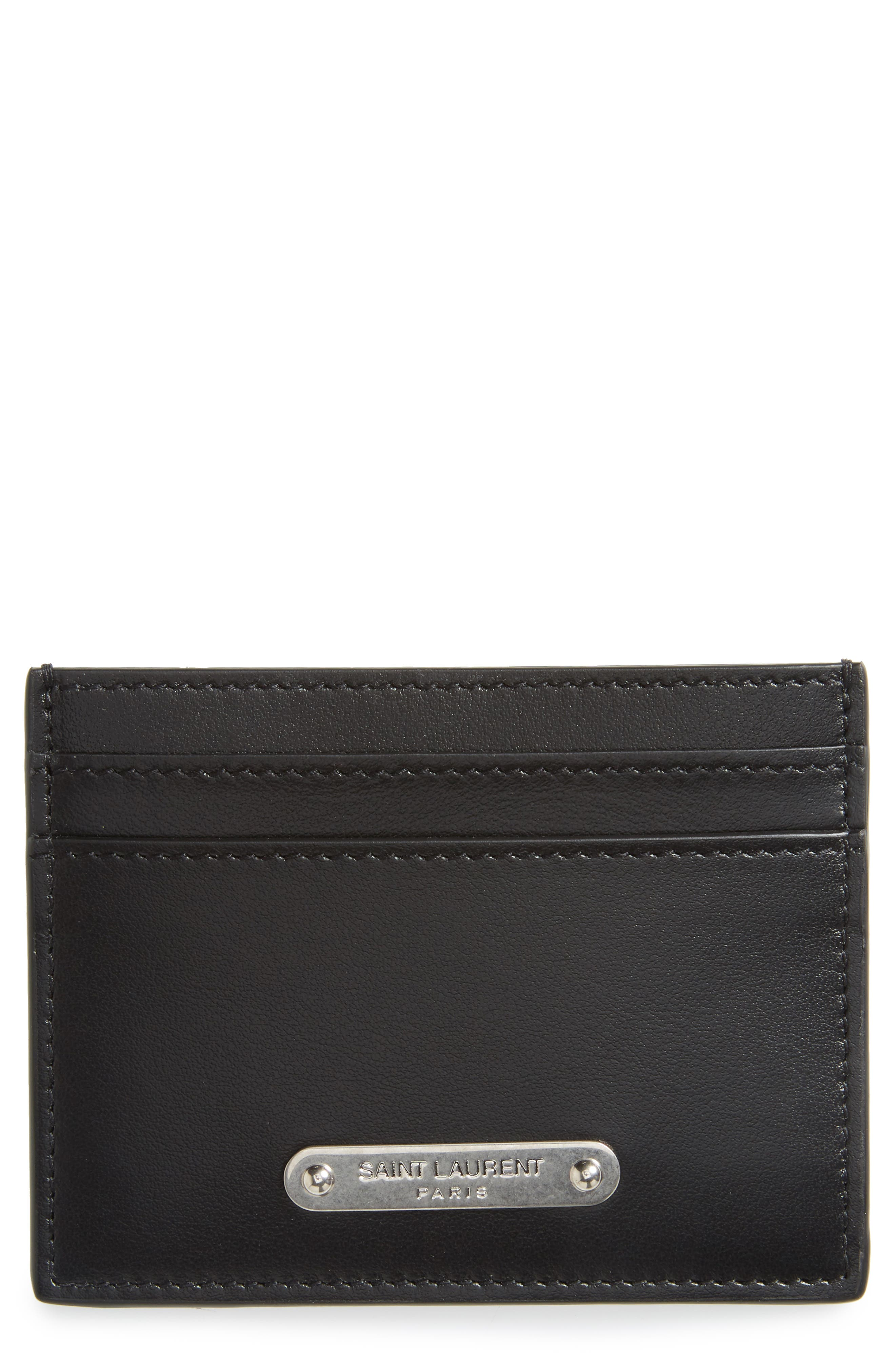 Saint Laurent Plate Leather Card Case