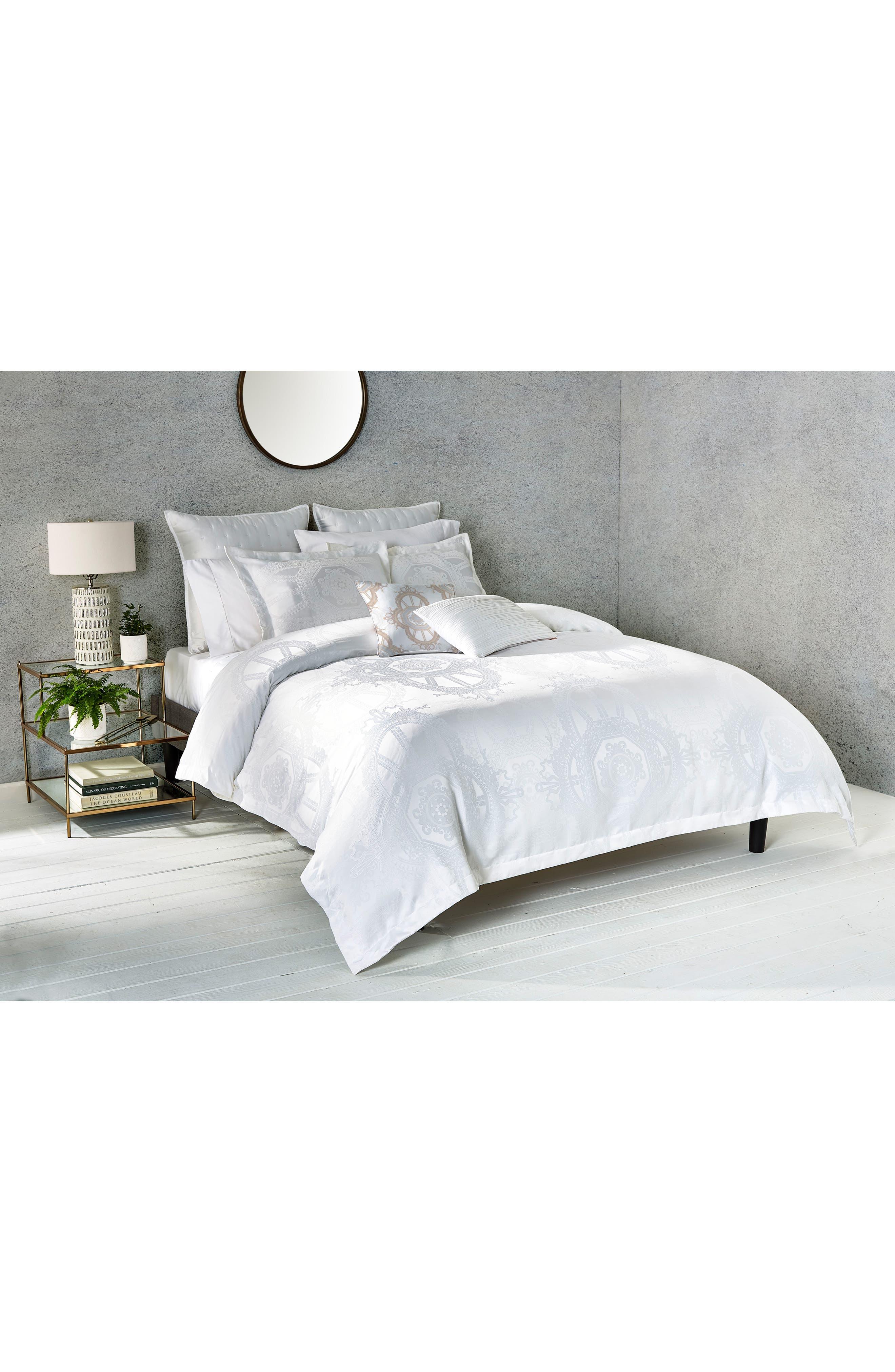 Versailles Comforter & Sham Set,                             Alternate thumbnail 2, color,                             White