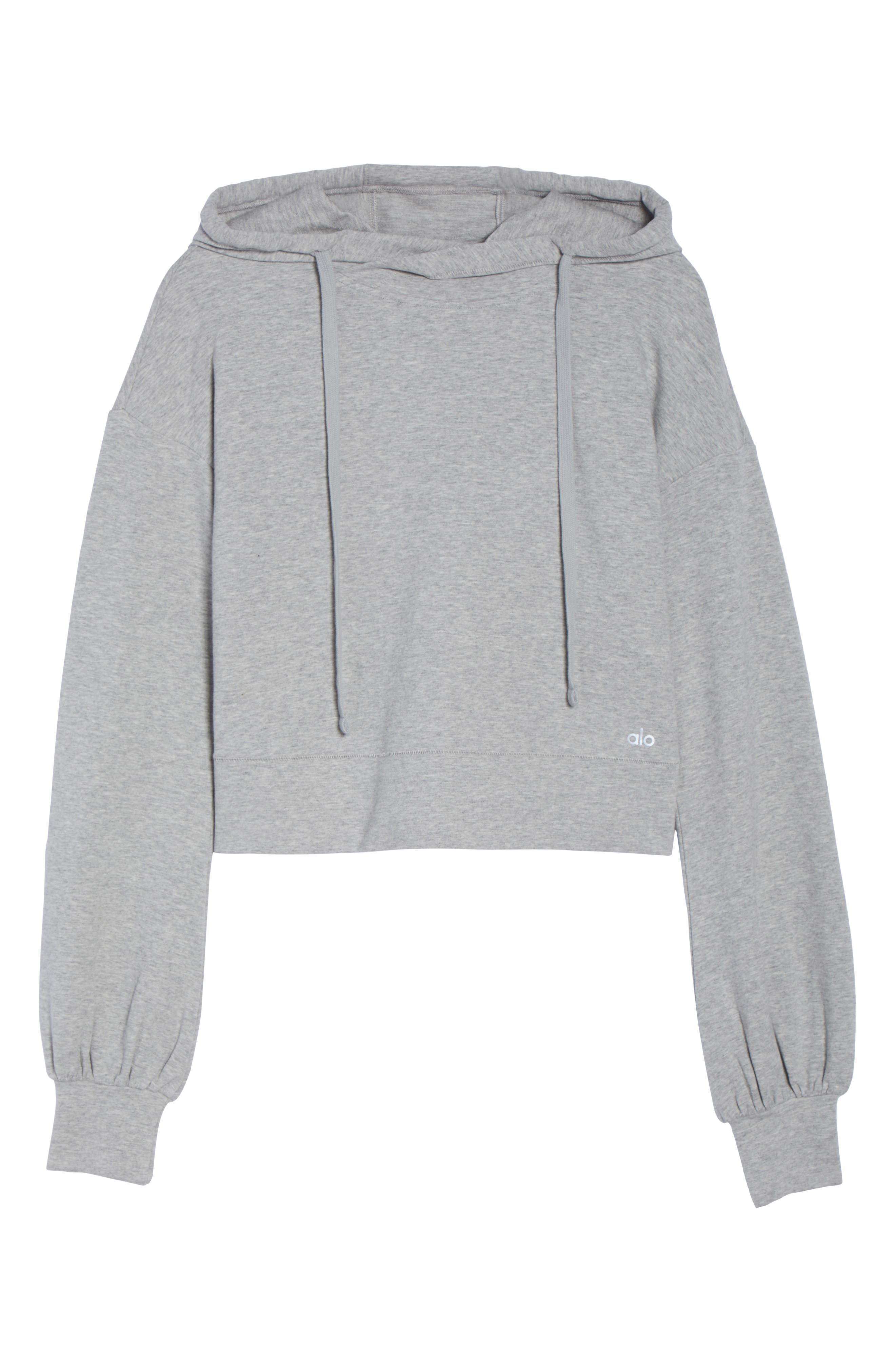 Social Hooded Top,                             Alternate thumbnail 7, color,                             Dove Grey Heather