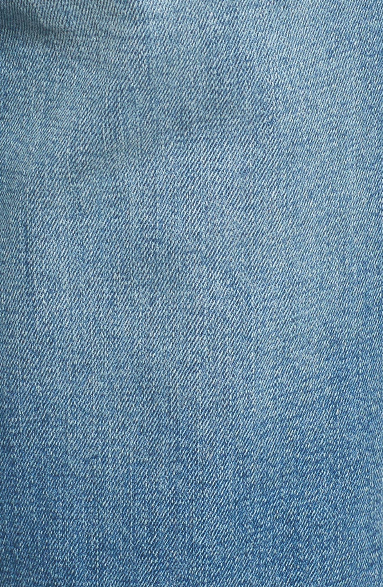 Rip & Repair Ankle Skinny Jeans,                             Alternate thumbnail 6, color,                             Pearl Jam