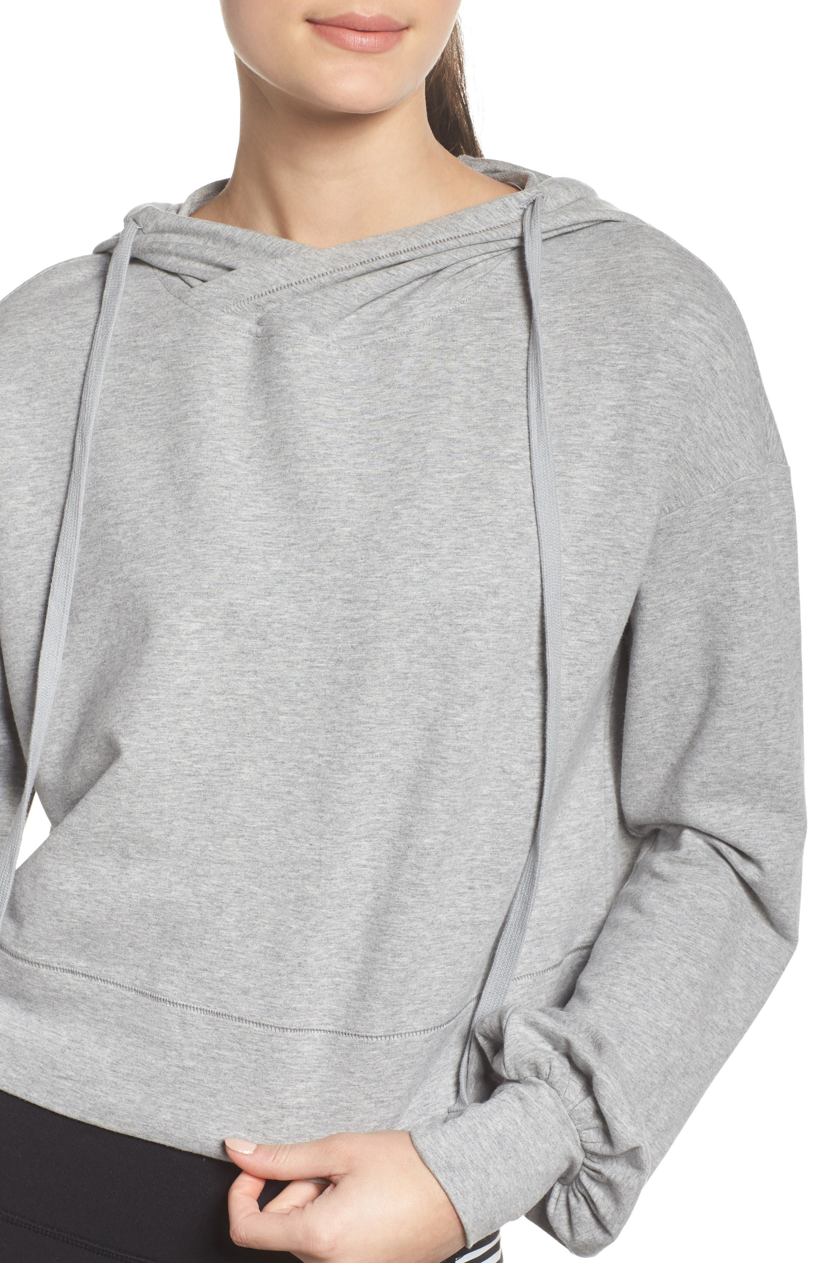 Social Hooded Top,                             Alternate thumbnail 4, color,                             Dove Grey Heather