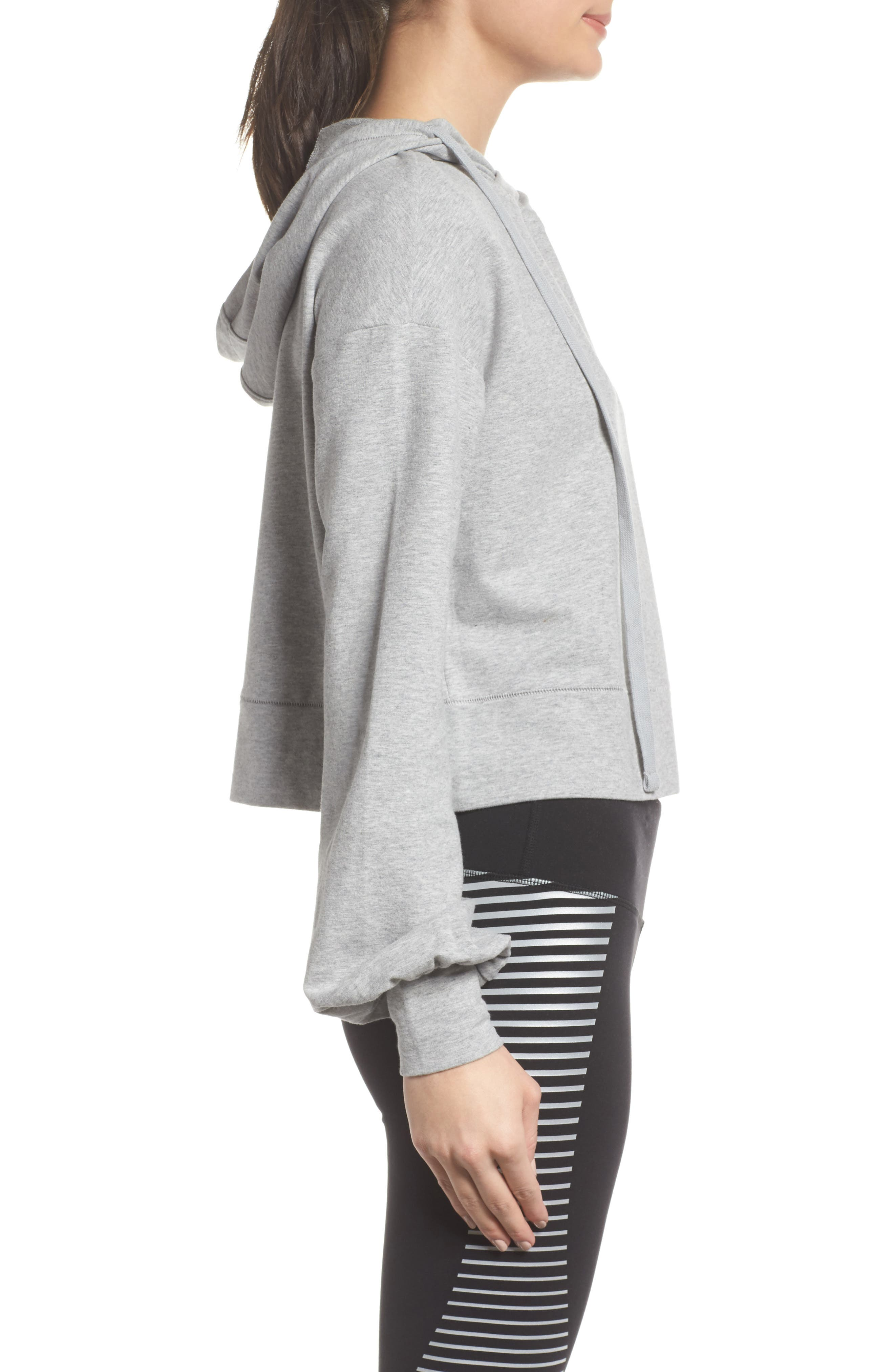 Social Hooded Top,                             Alternate thumbnail 3, color,                             Dove Grey Heather