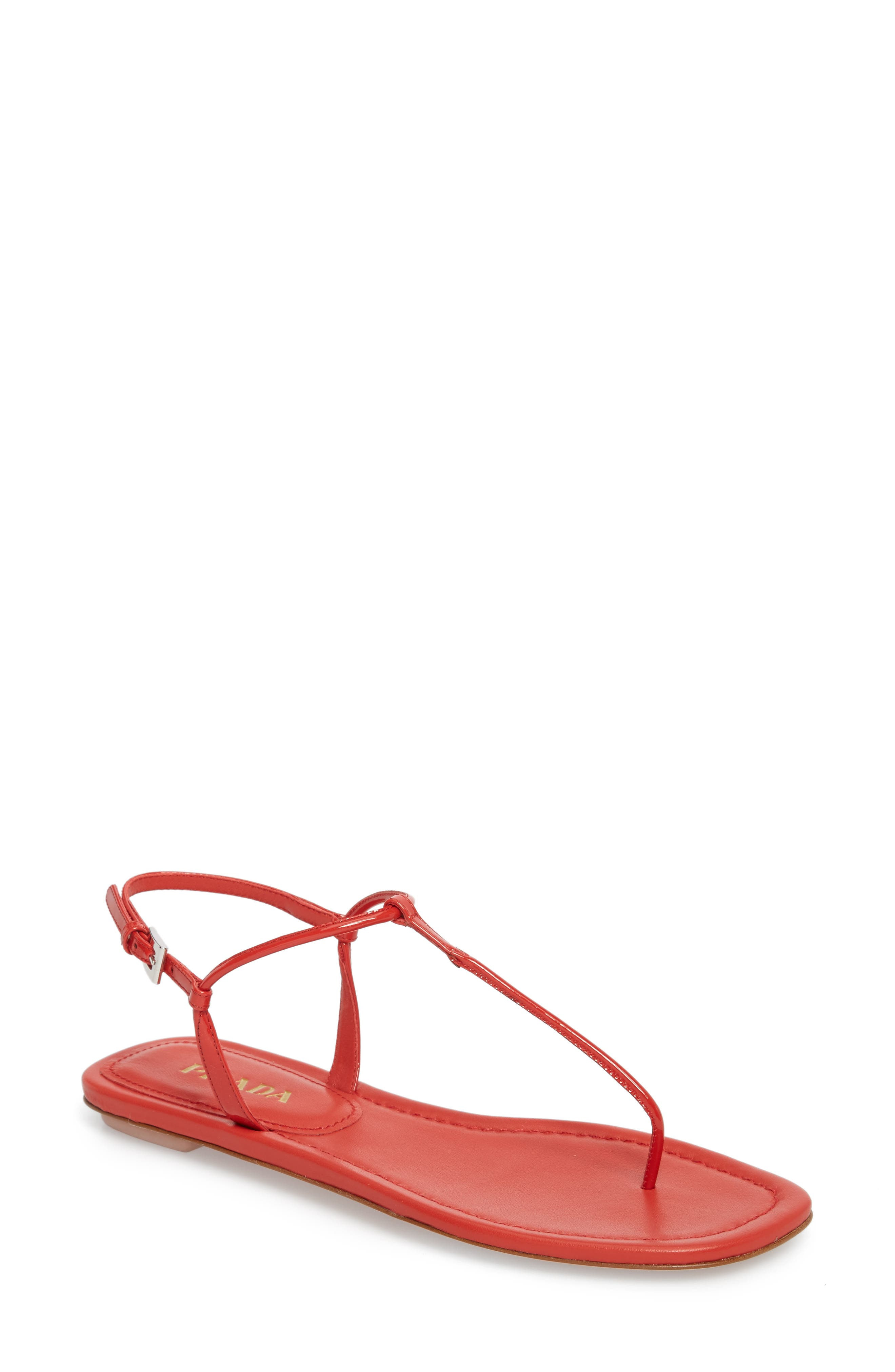 Thong Sandal,                         Main,                         color, Red