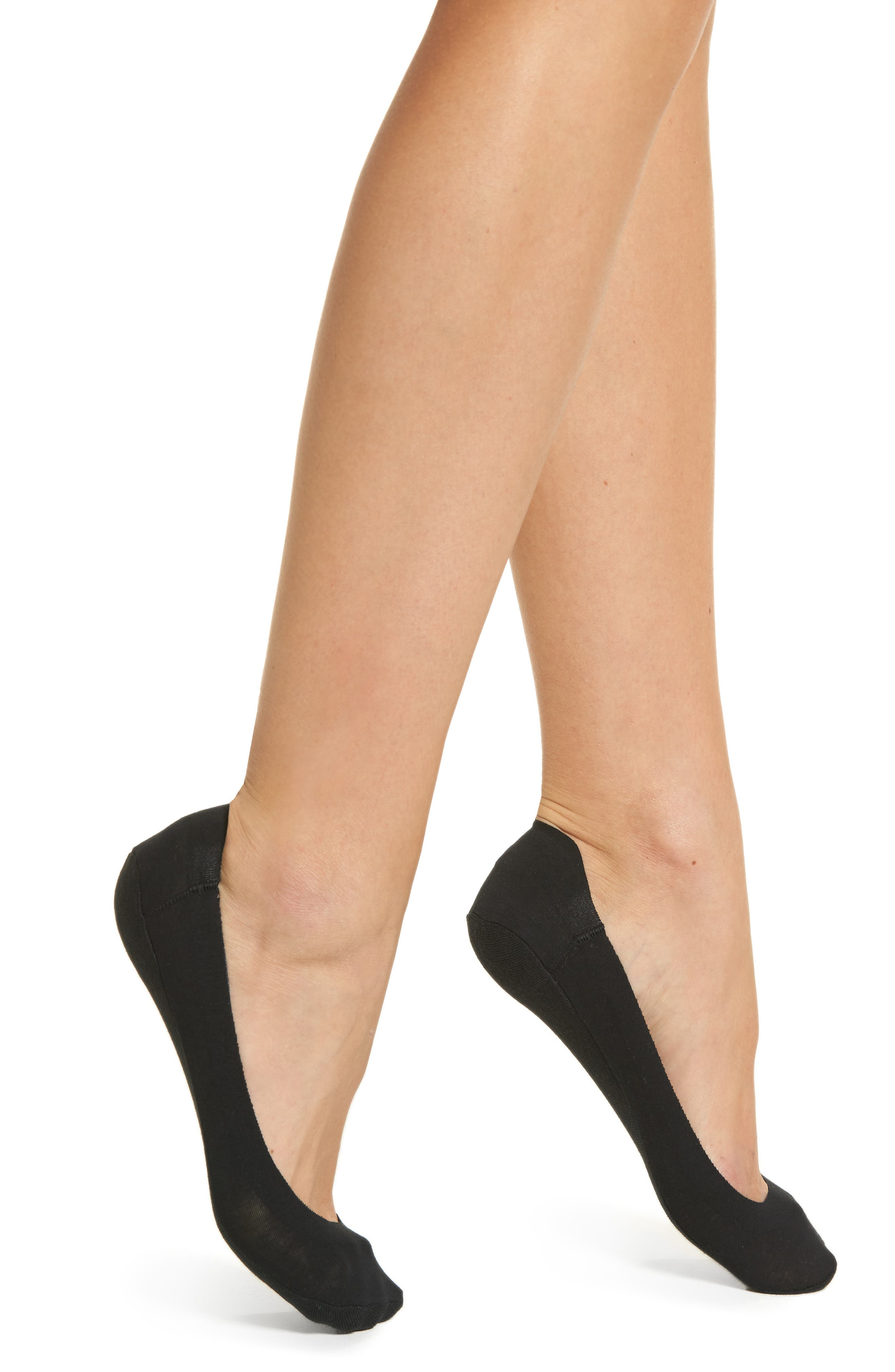 Main Image - Hue Perfect Edge No-Show Liner Socks (3 for $16)
