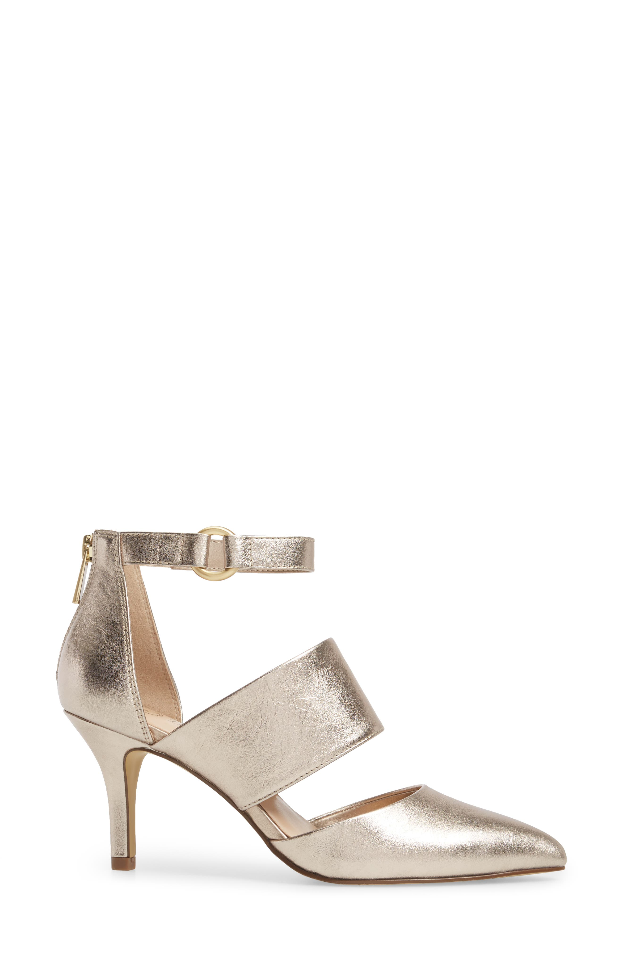 Diana Pump,                             Alternate thumbnail 3, color,                             Champagne Leather