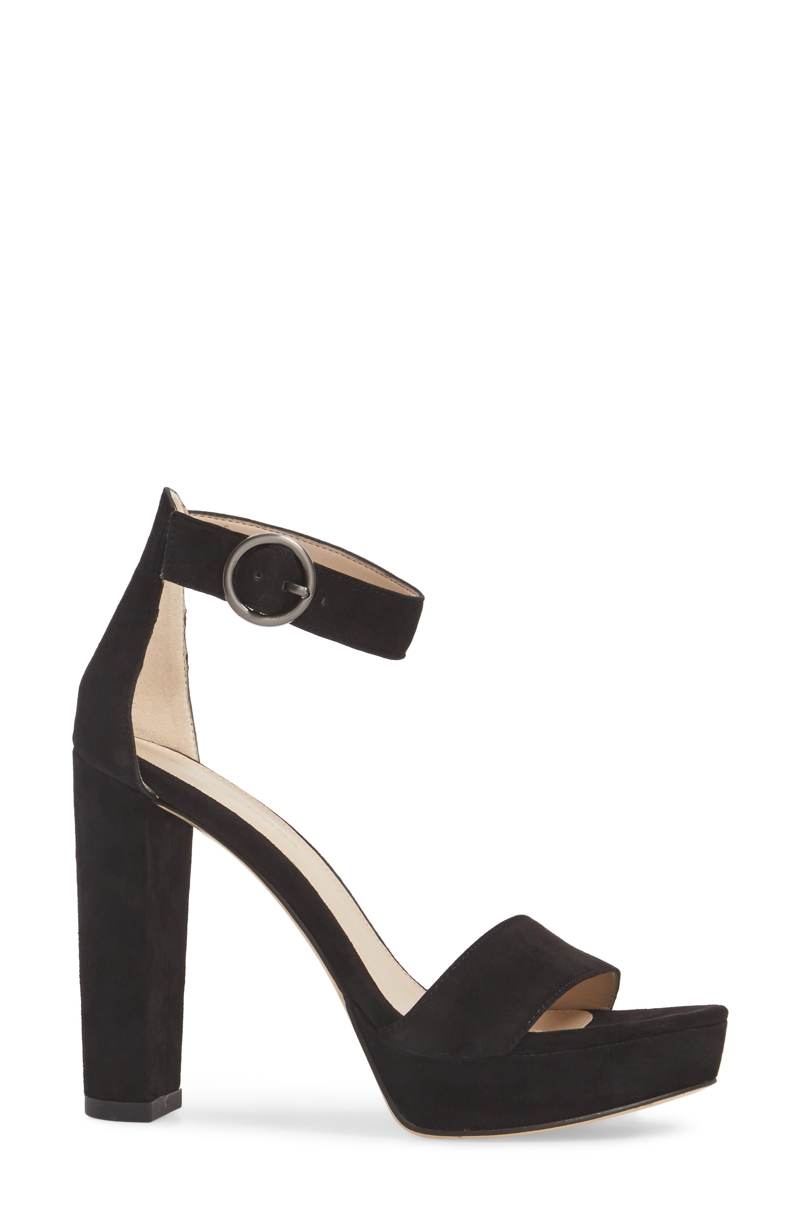 Palo 2 Platform Sandal,                             Alternate thumbnail 3, color,                             Black Suede
