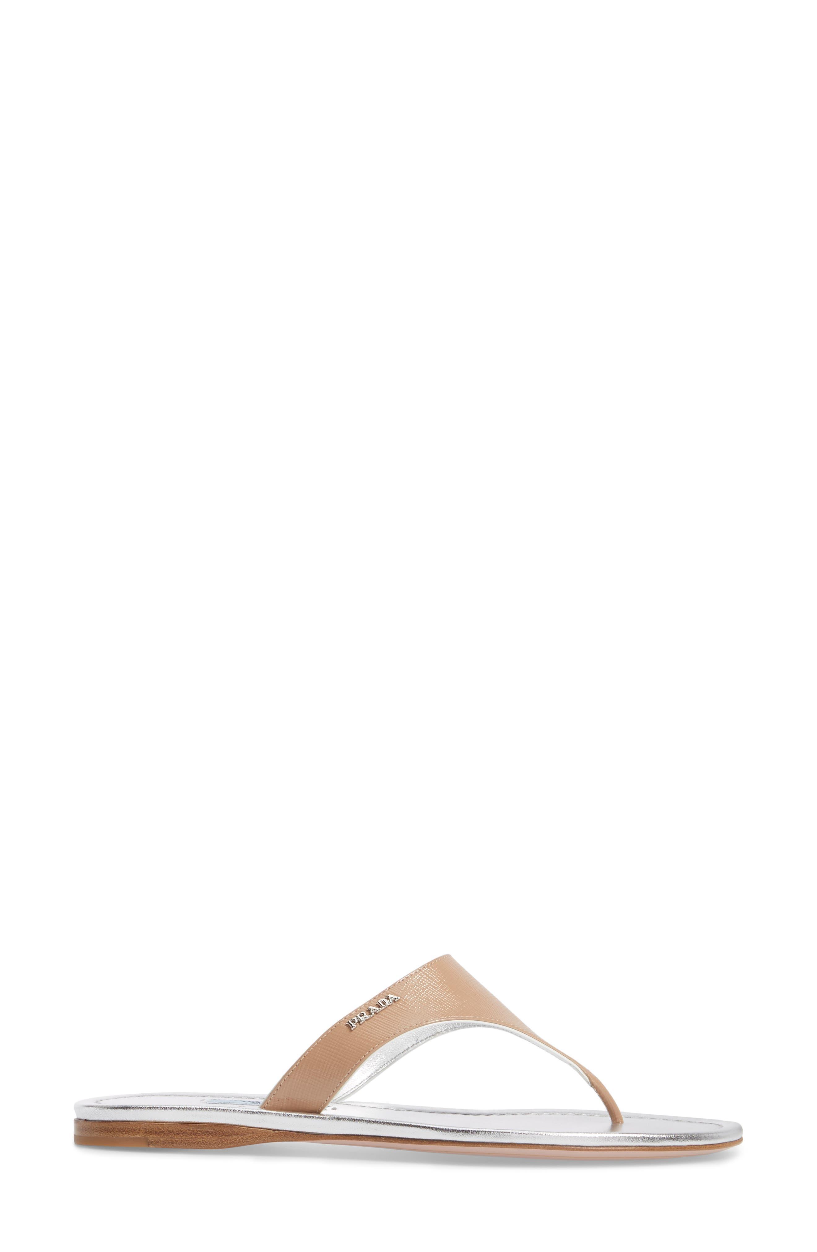 Thong Sandal,                             Alternate thumbnail 3, color,                             Nude