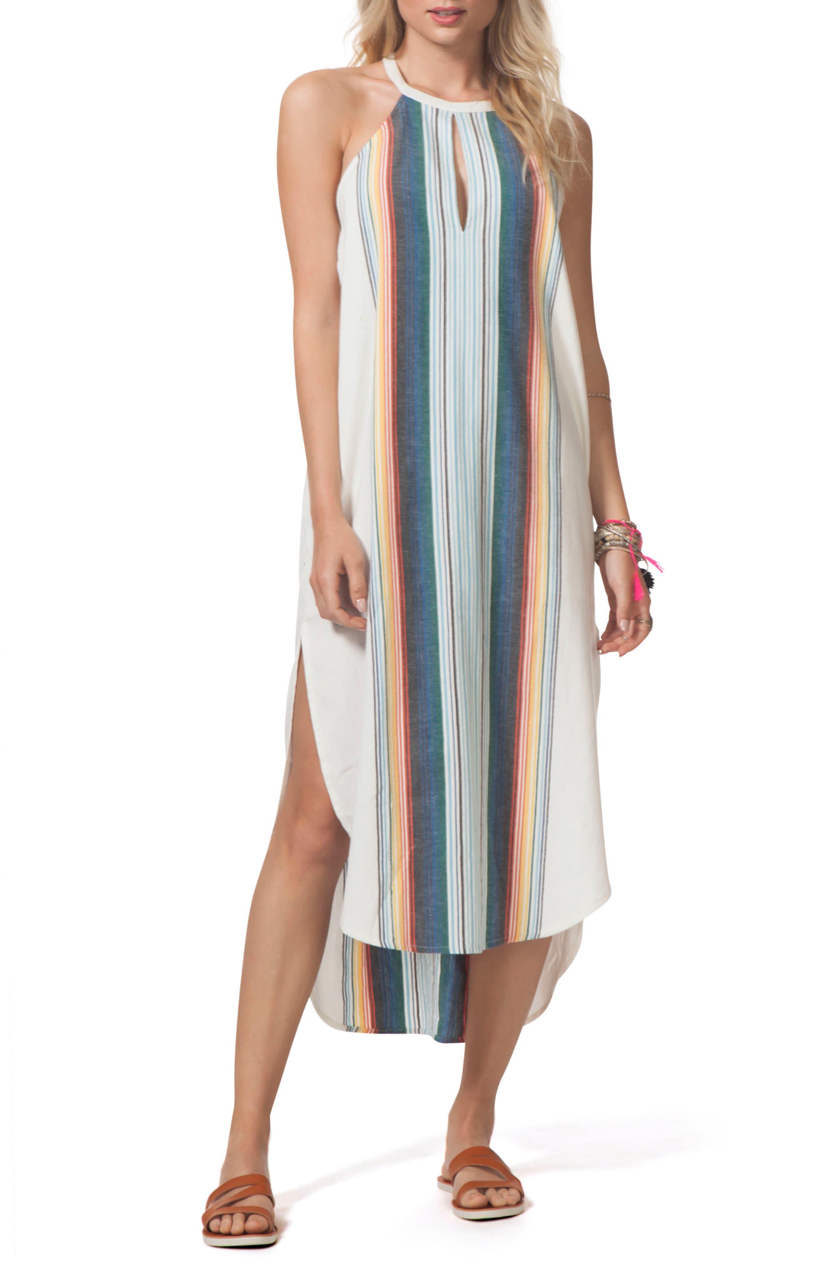 Beach Bazaar Maxi Dress,                             Main thumbnail 1, color,                             Vanilla