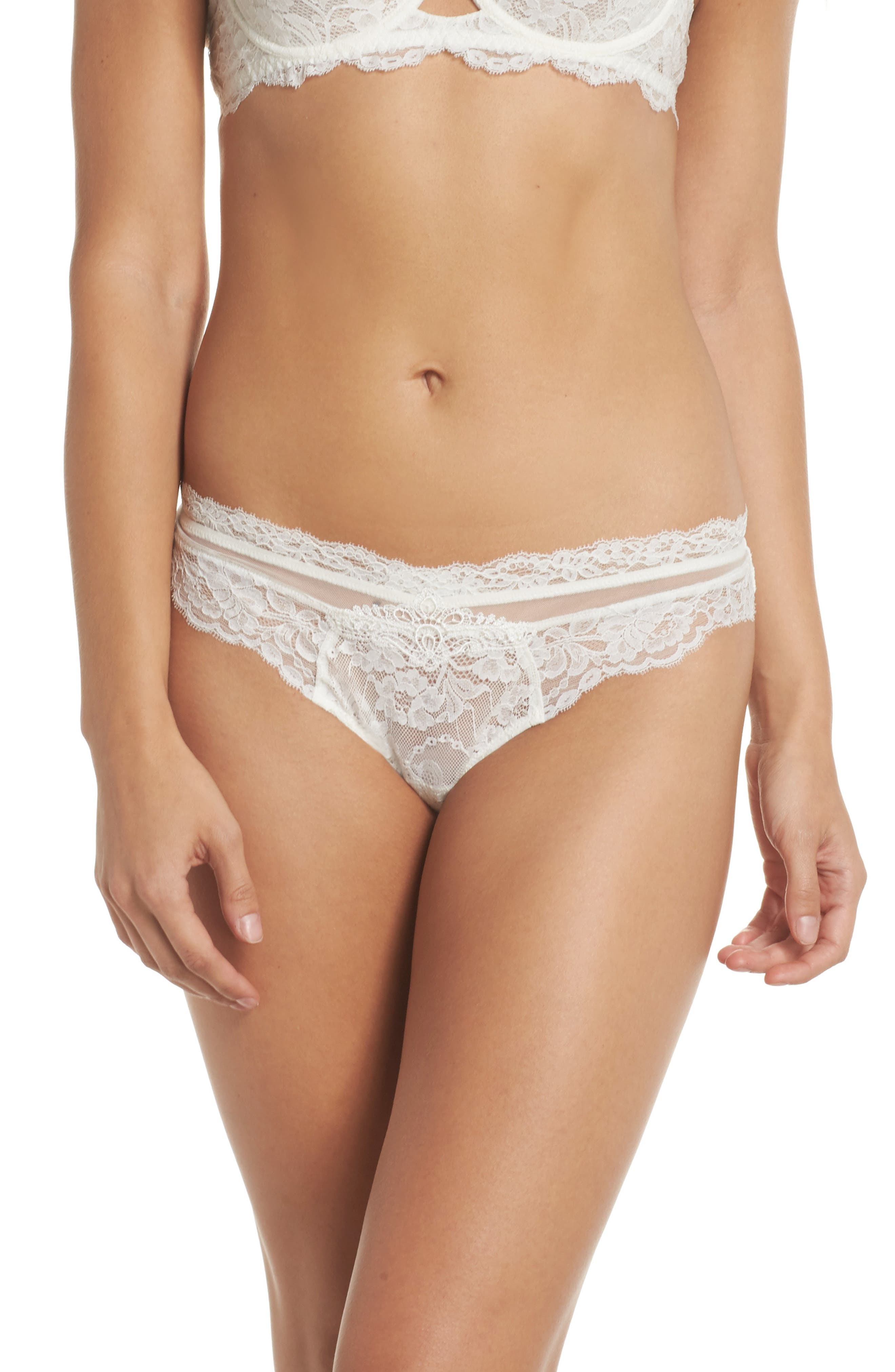 Exception Charme Thong,                             Main thumbnail 1, color,                             Nacre