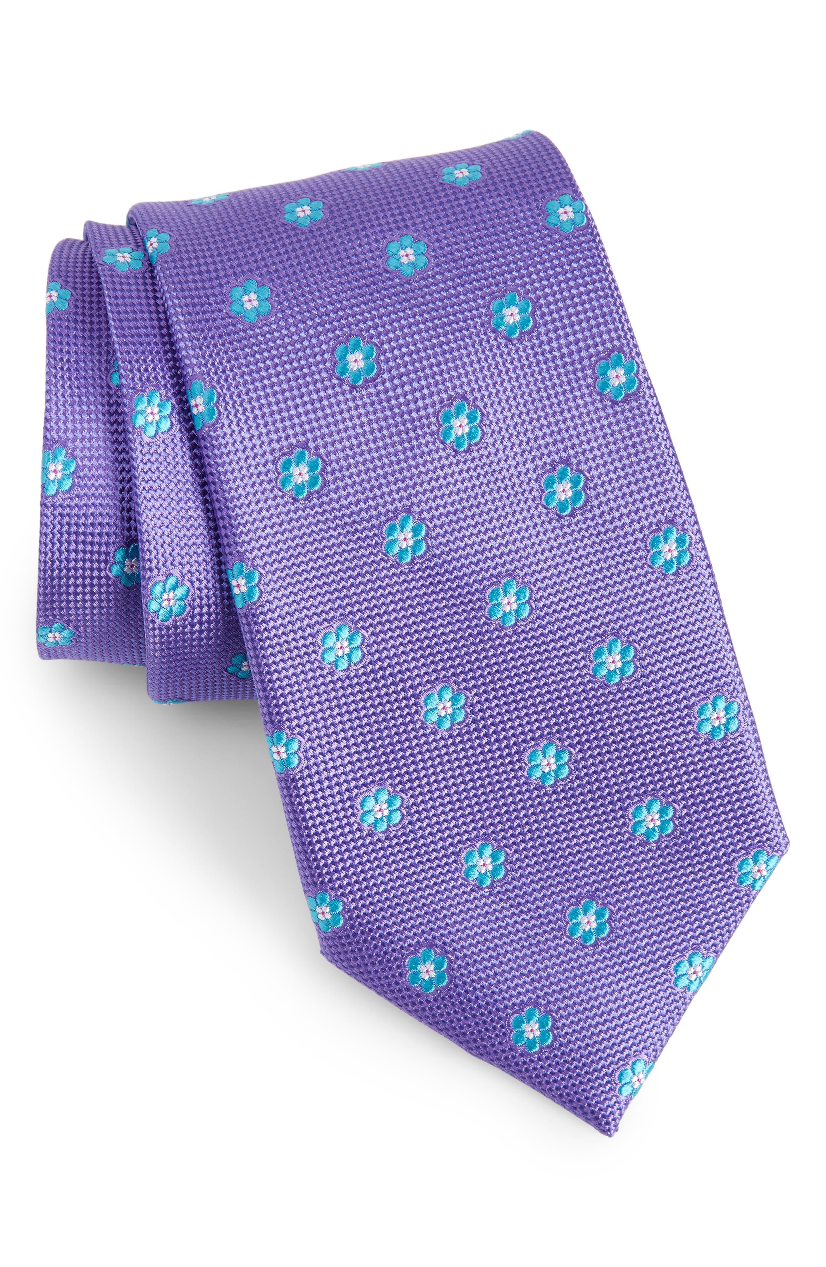 Main Image - Calibrate Cloisters Neat Silk Tie (X-Long)