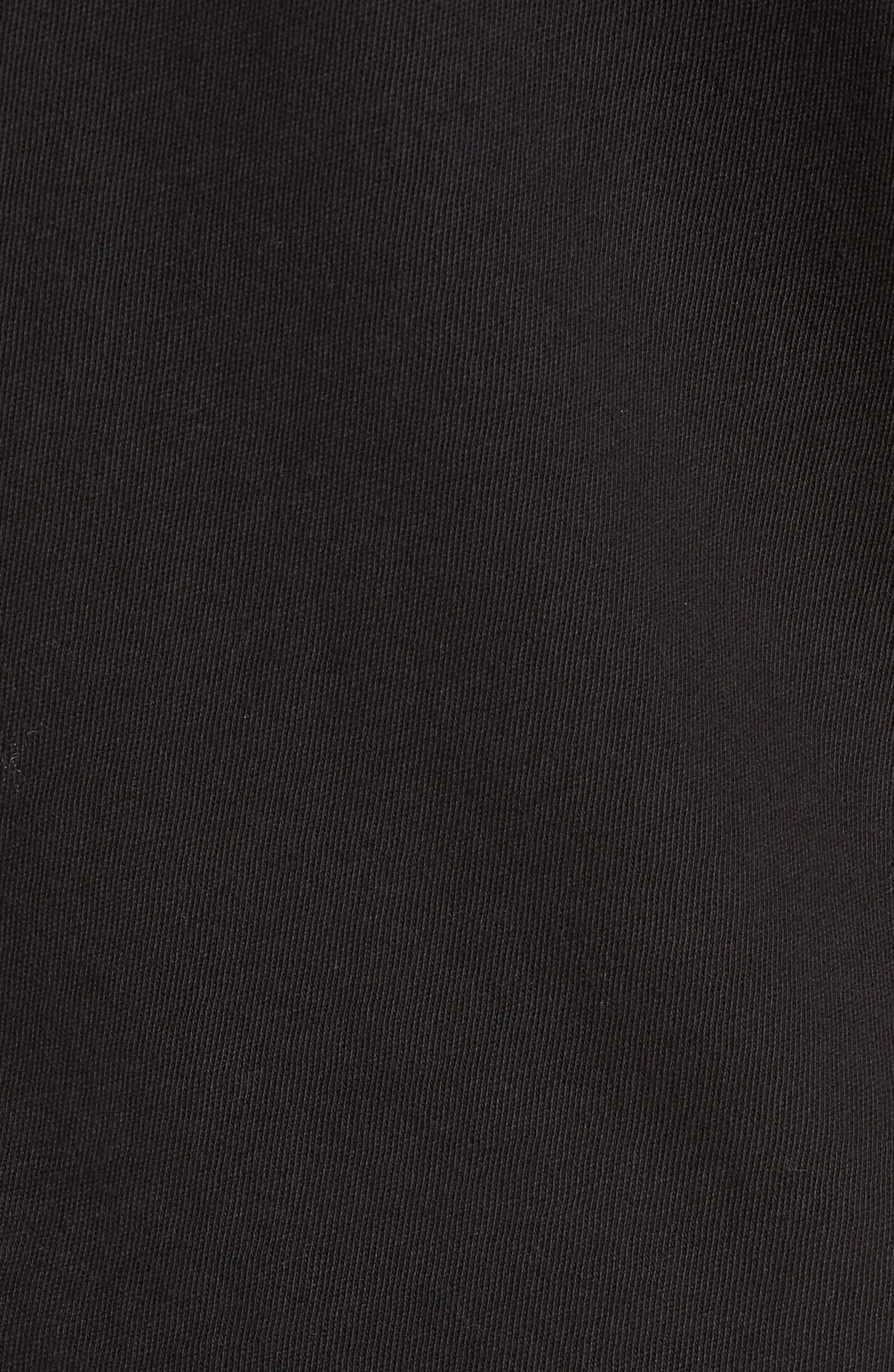 Raw Edge T-Shirt,                             Alternate thumbnail 5, color,                             Black